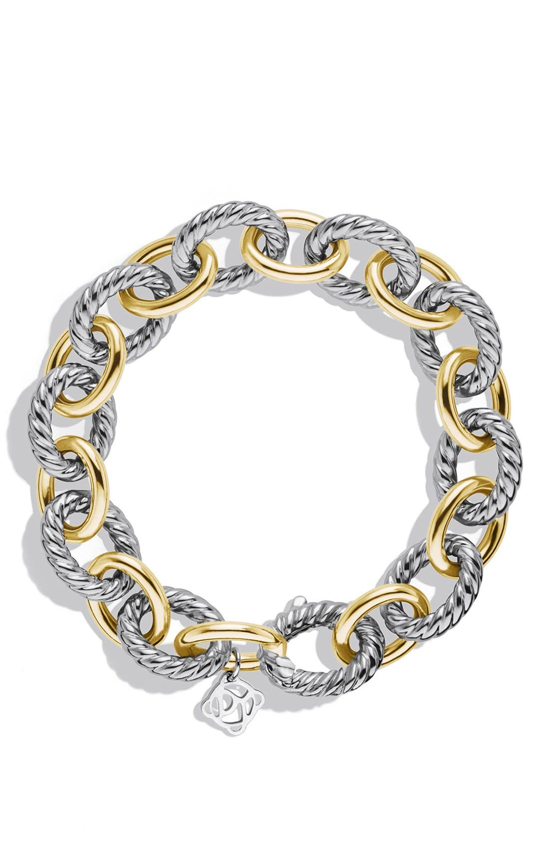 'Oval' Large Link Bracelet with Gold,                             Alternate thumbnail 2, color,                             TWO TONE