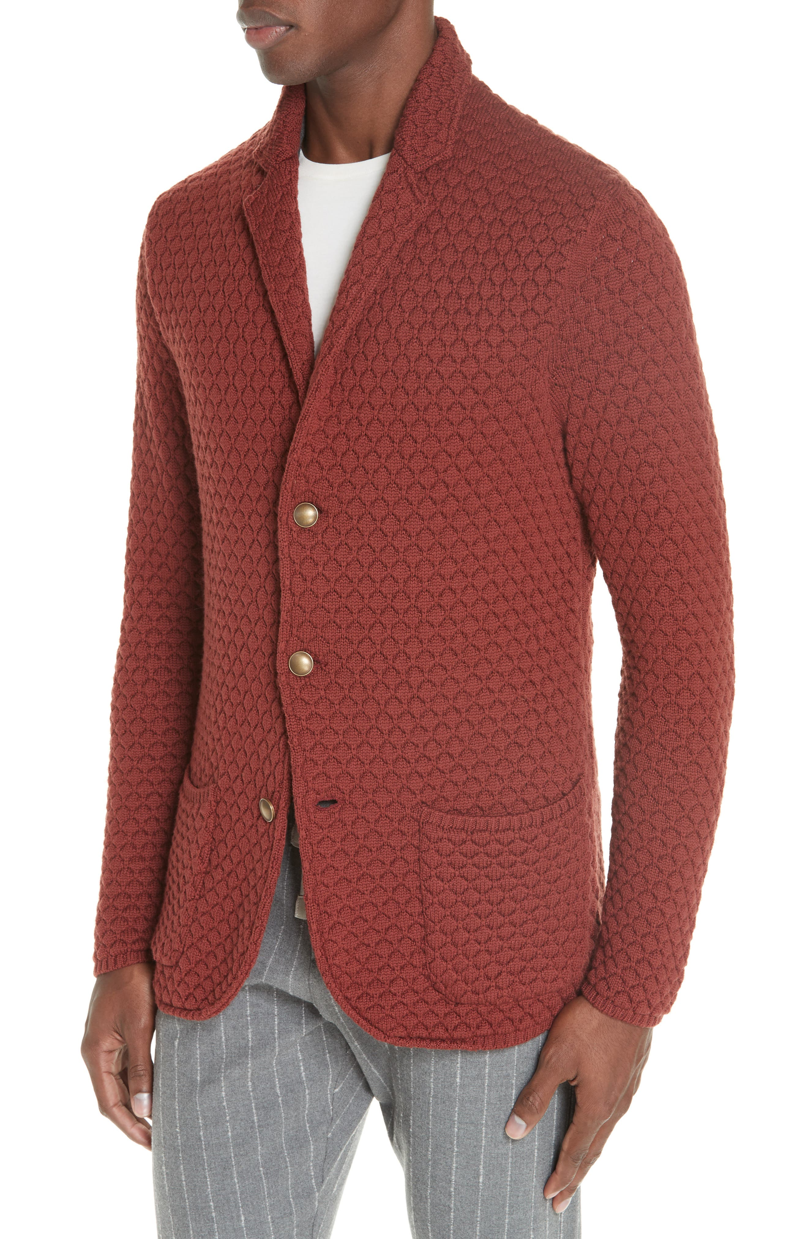 Wool Sweater Jacket,                             Alternate thumbnail 4, color,                             223