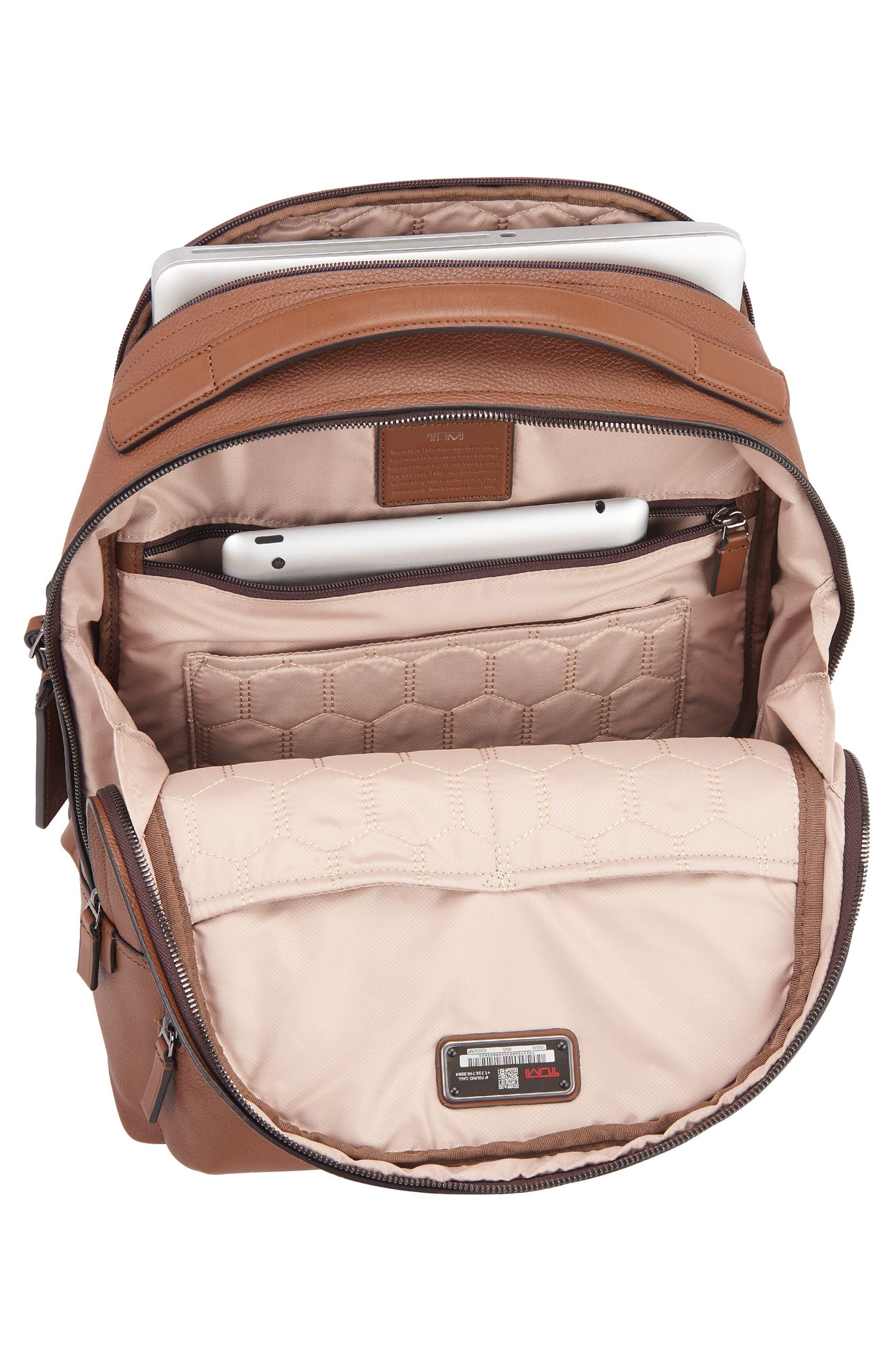 Harrison - Webster Backpack,                             Alternate thumbnail 3, color,                             UMBER PEBBLED