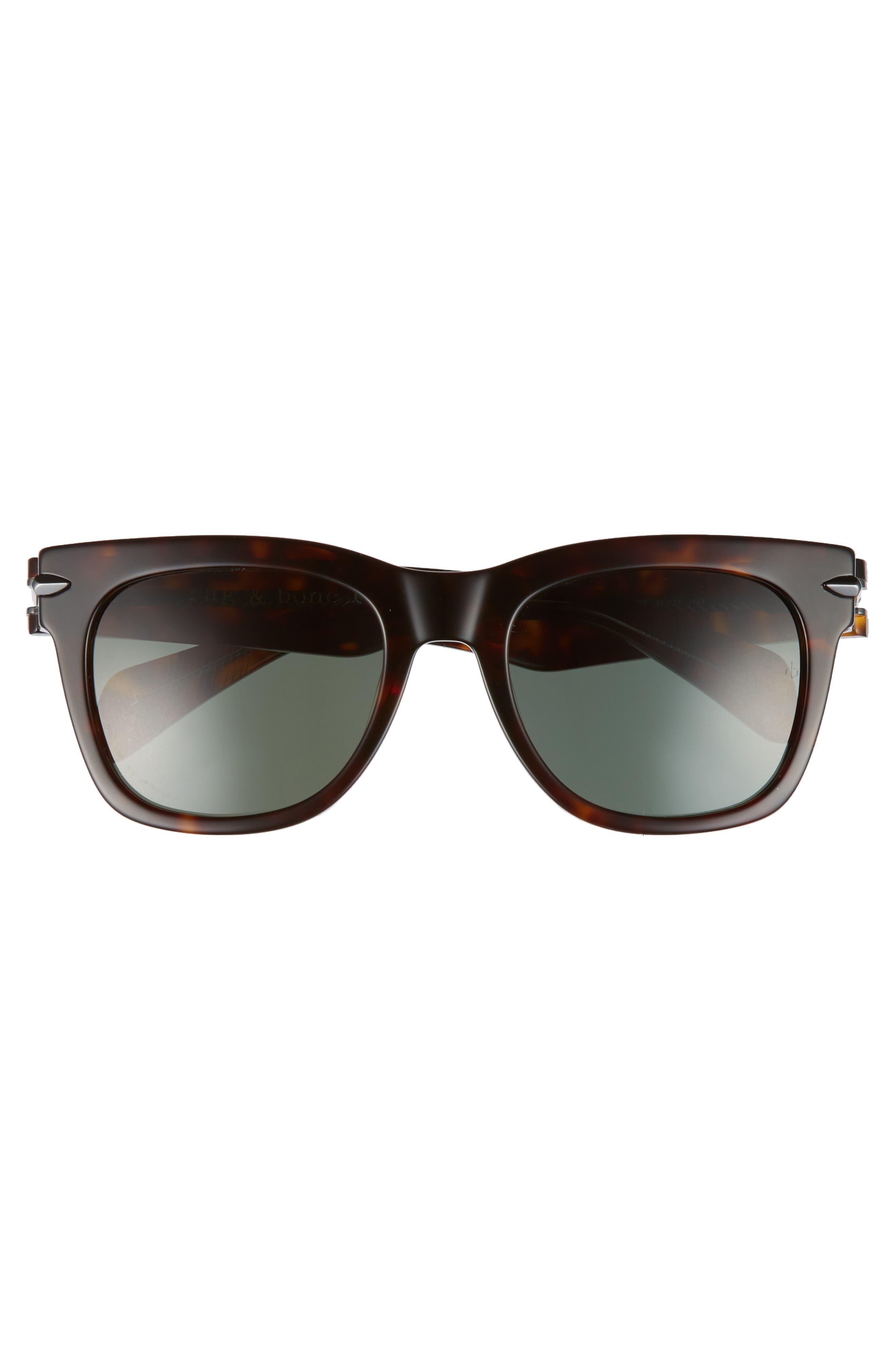 54mm Sunglasses,                             Alternate thumbnail 2, color,                             DARK HAVANA