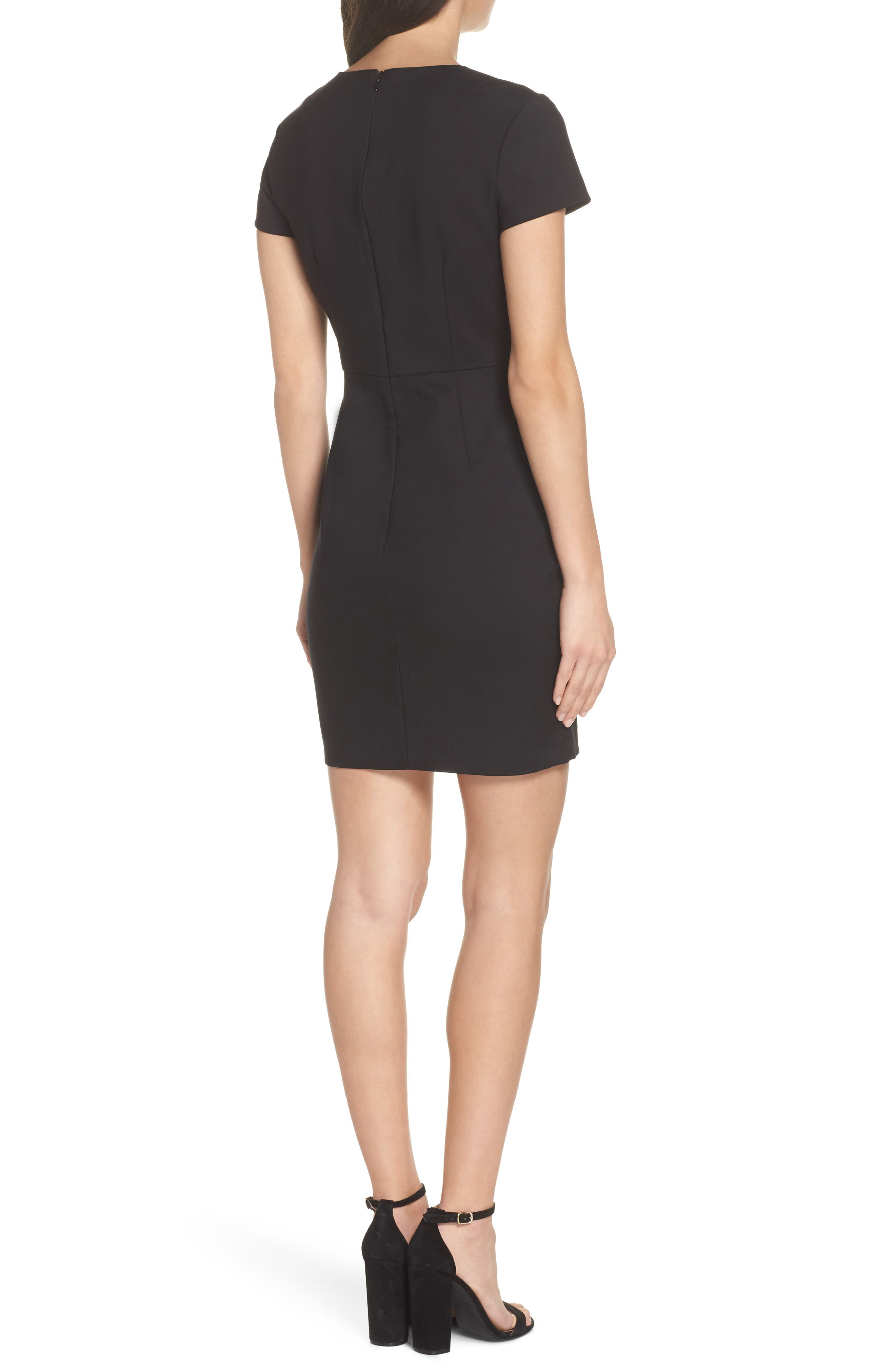 Glass Stretch Sheath Dress,                             Alternate thumbnail 2, color,                             001