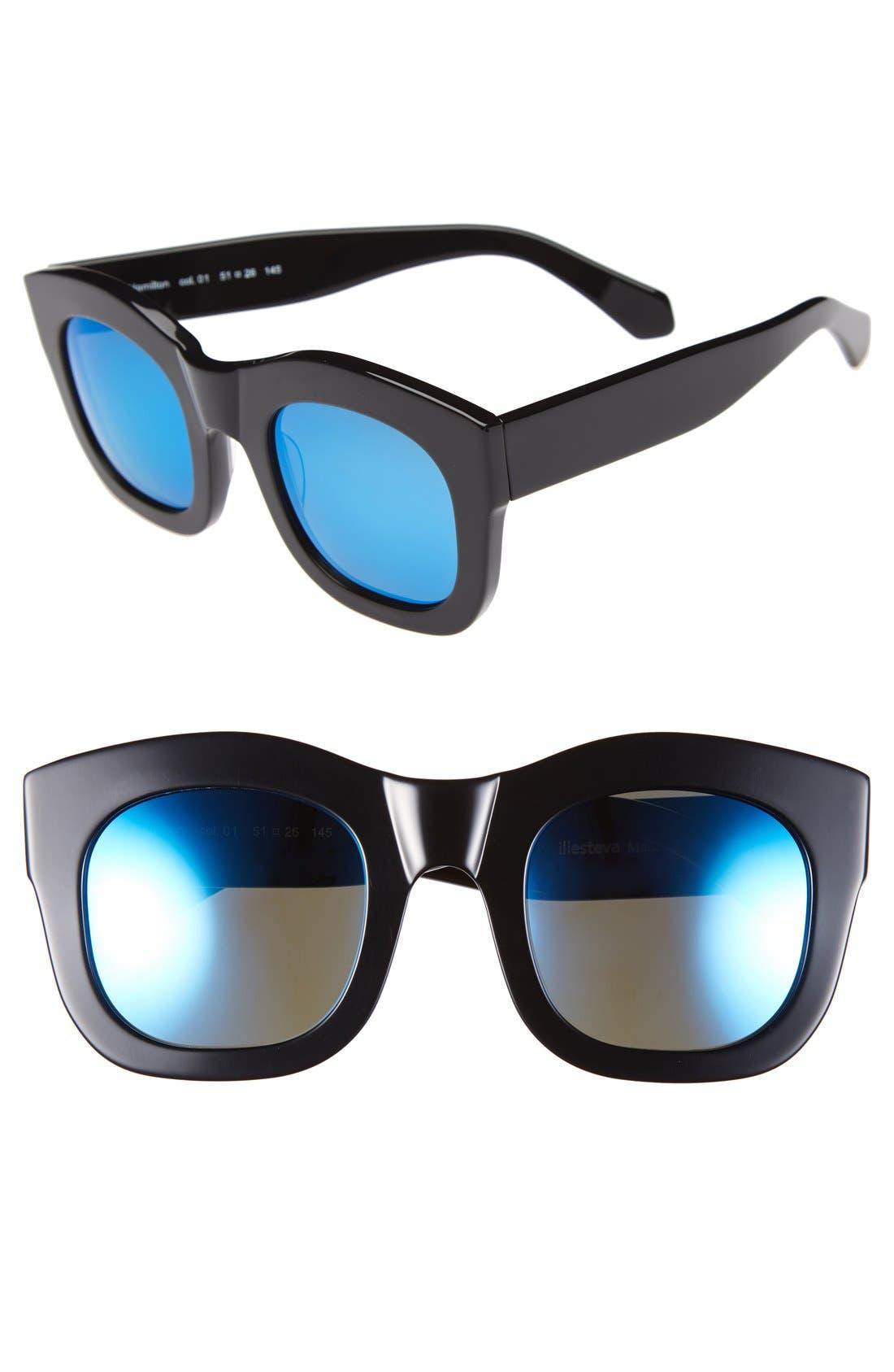 'Hamilton' 49mm Retro Sunglasses,                             Main thumbnail 2, color,