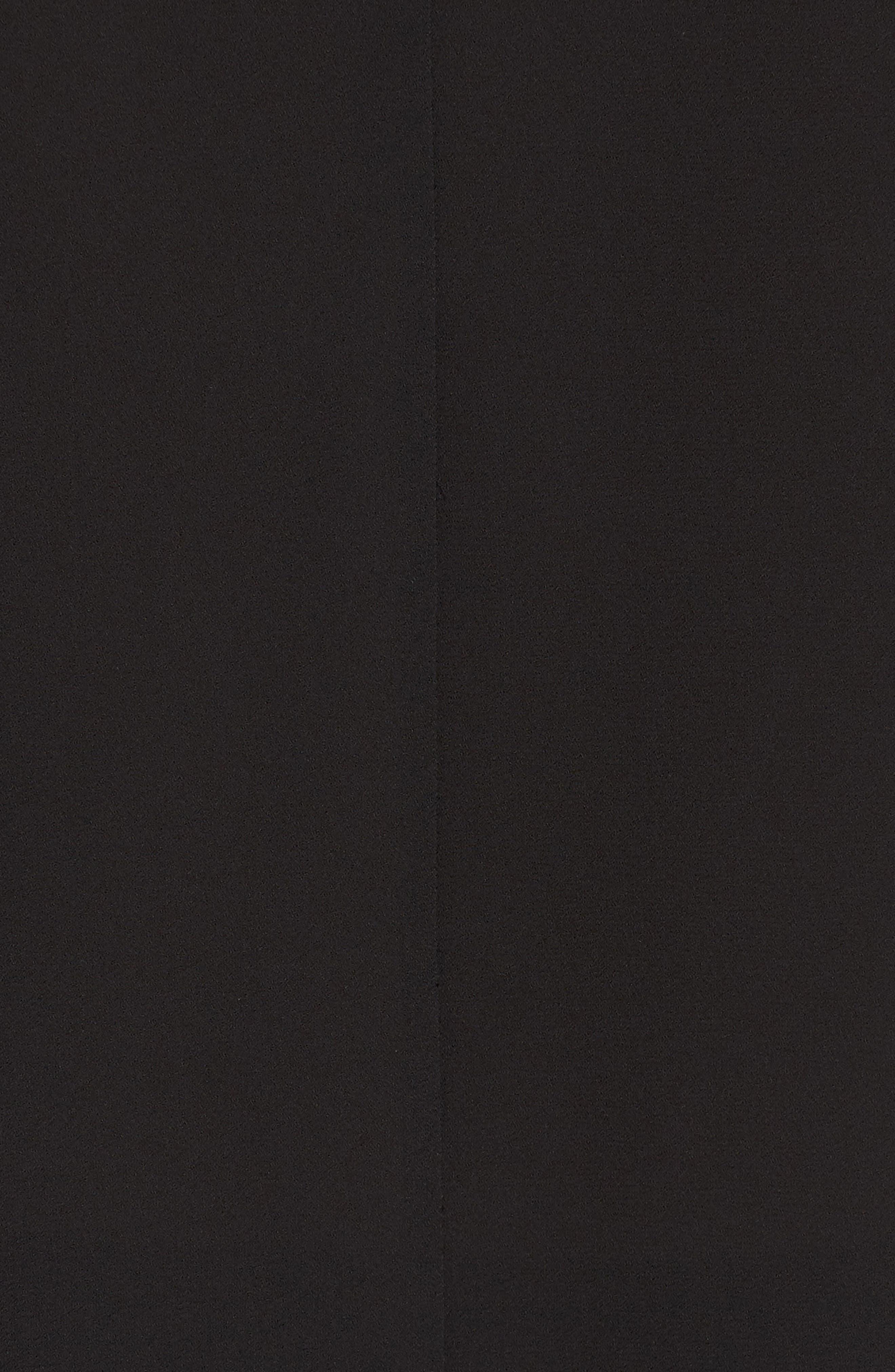 CHELSEA28, Drape Front Top, Alternate thumbnail 5, color, 001