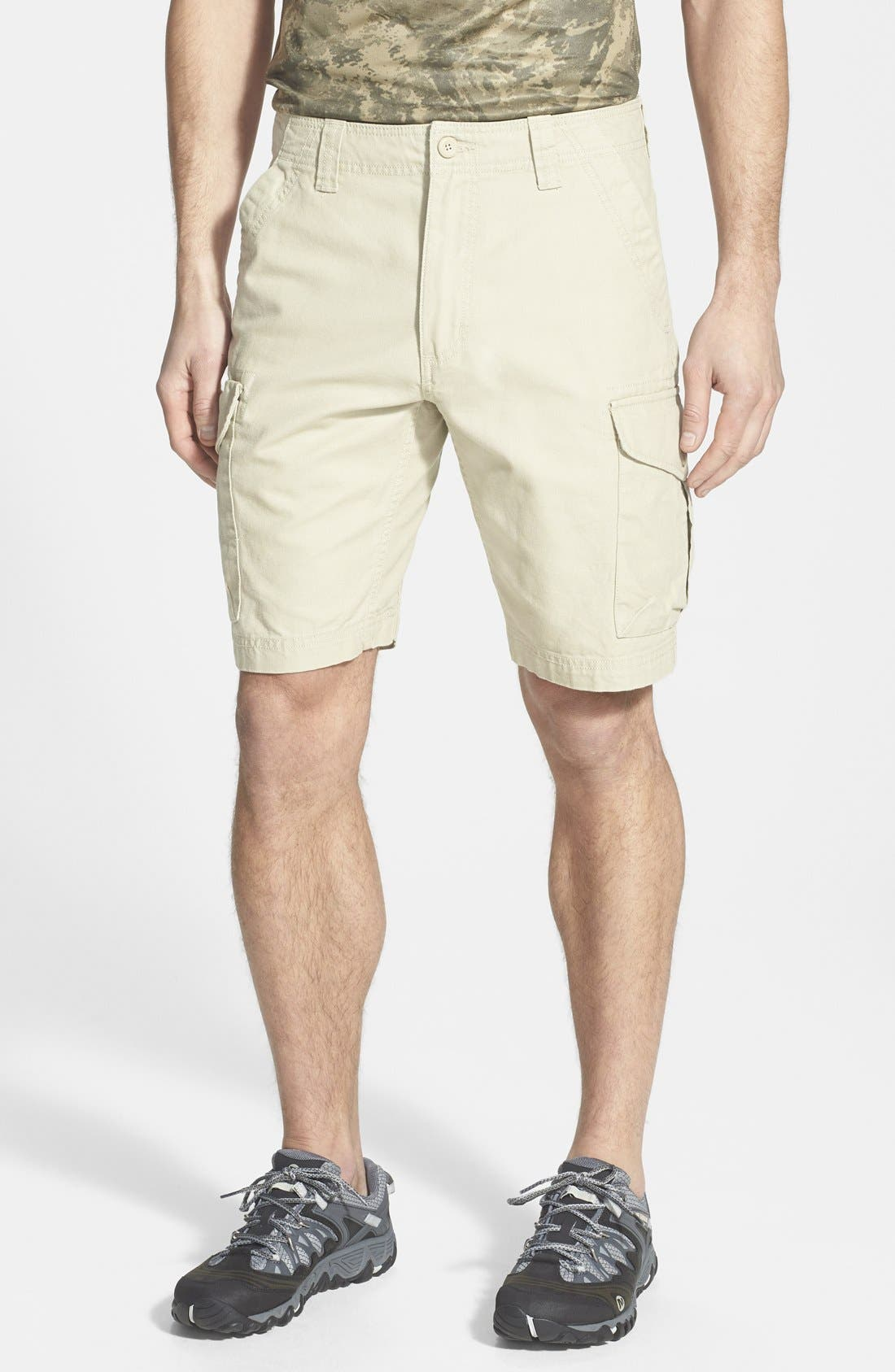 'Stand Up' Organic Cotton Canvas Cargo Shorts, Main, color, 250