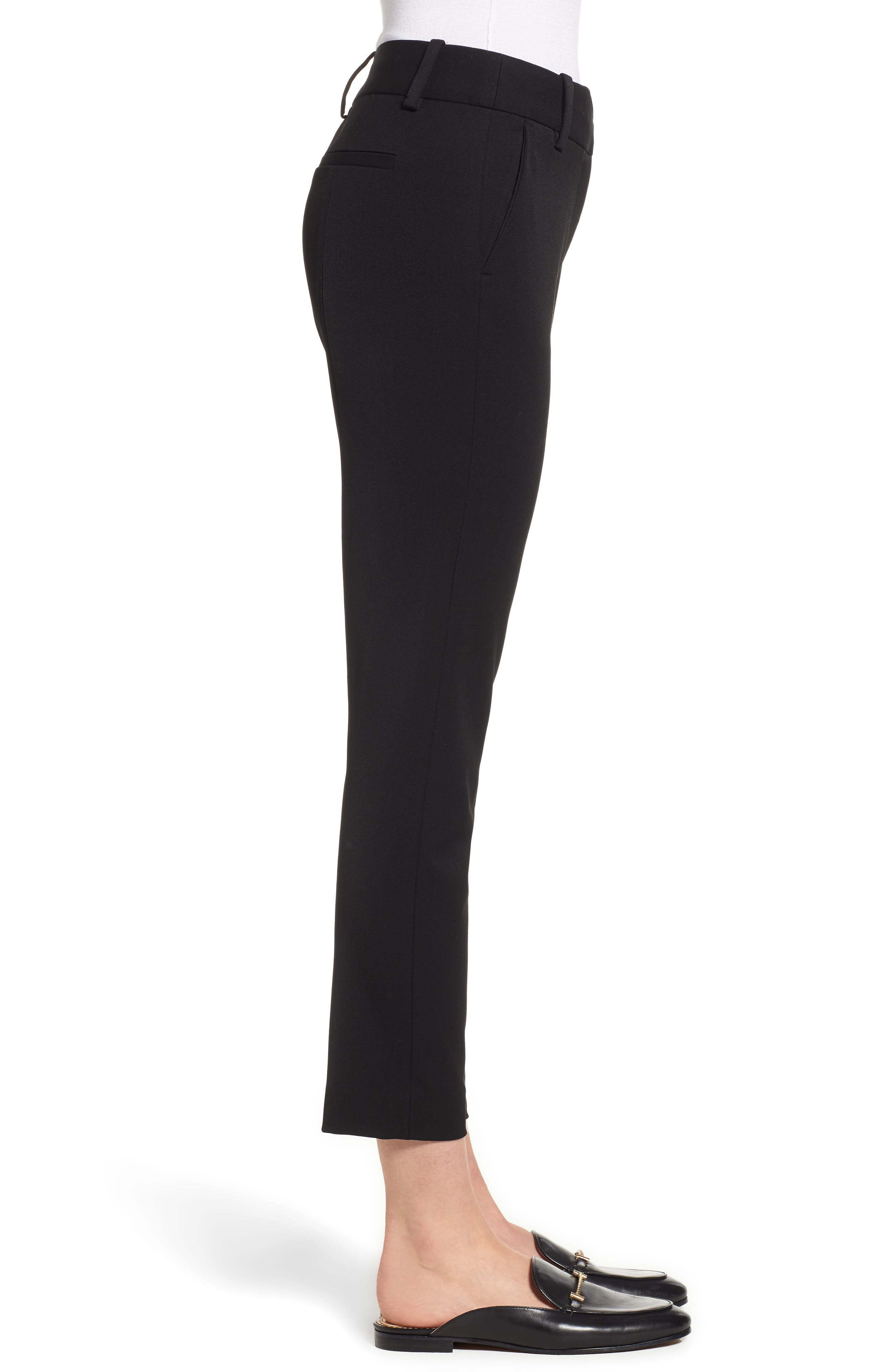 2-Way Stretch Twill Straight Pants,                             Alternate thumbnail 3, color,                             RICH BLACK