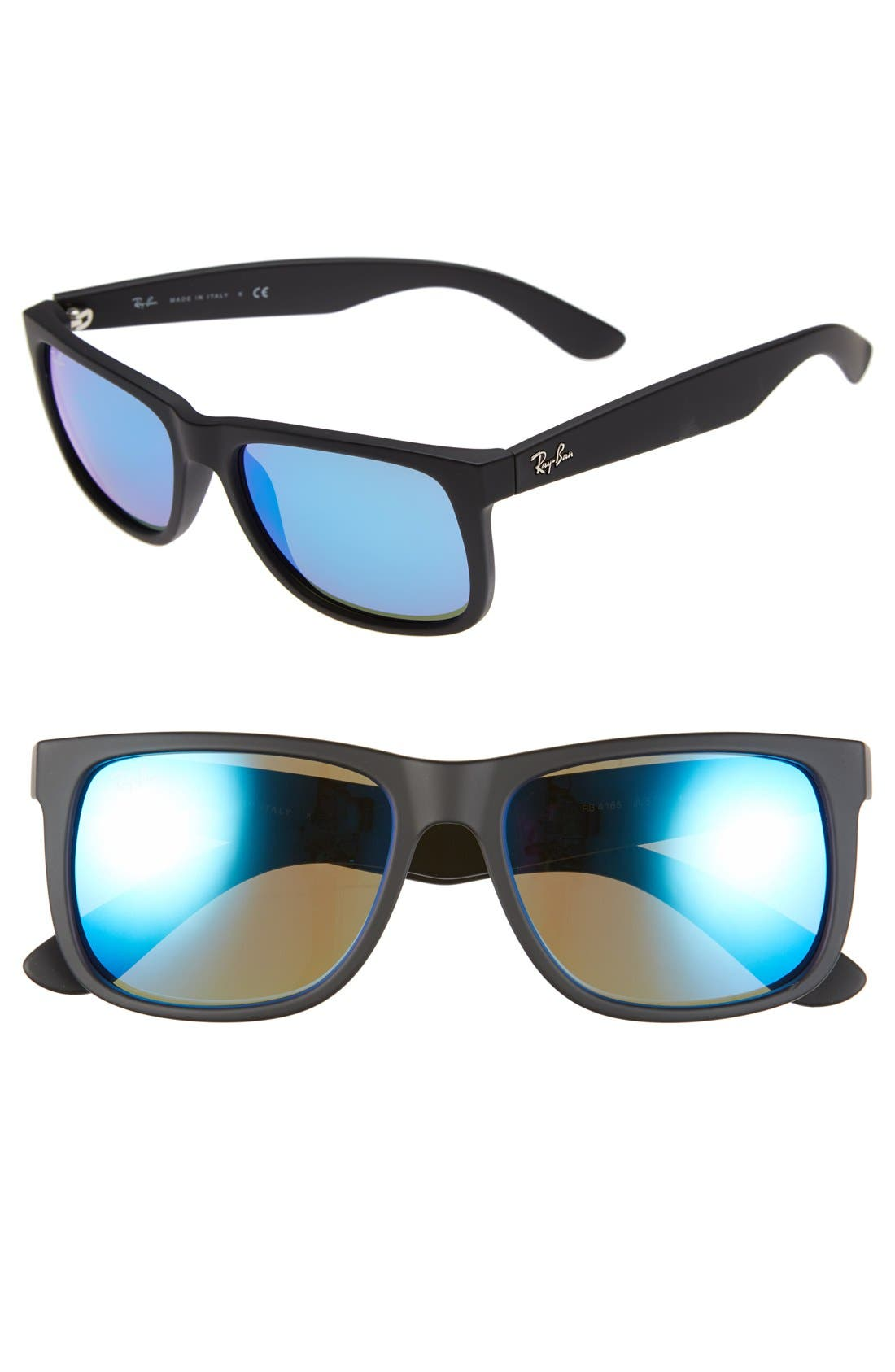 Ray-Ban 5m Sunglasses - Black/ Green Mirror Blue