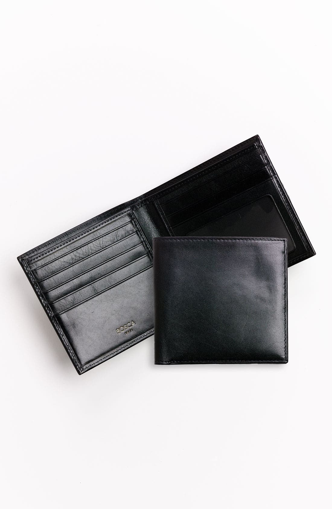 'Old Leather' Bifold Wallet,                             Alternate thumbnail 3, color,                             001
