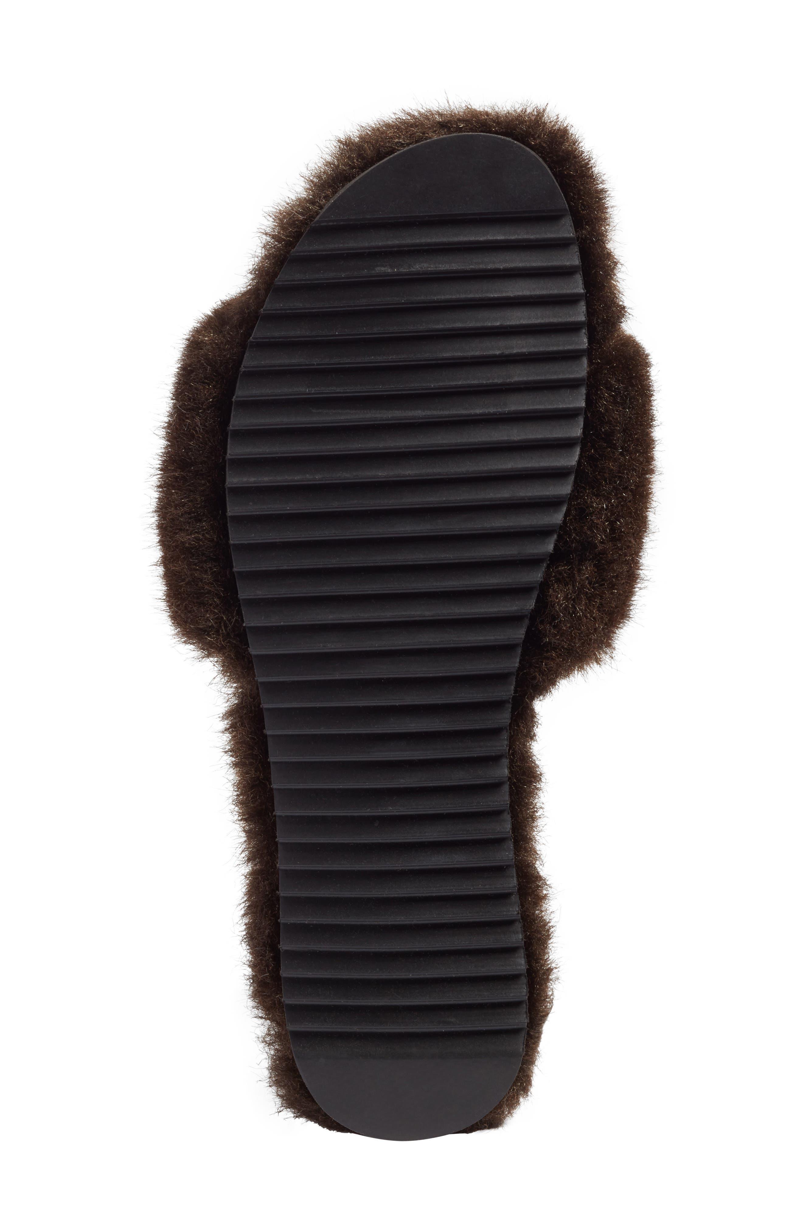 Faux Fur Slide Sandal,                             Alternate thumbnail 6, color,                             200