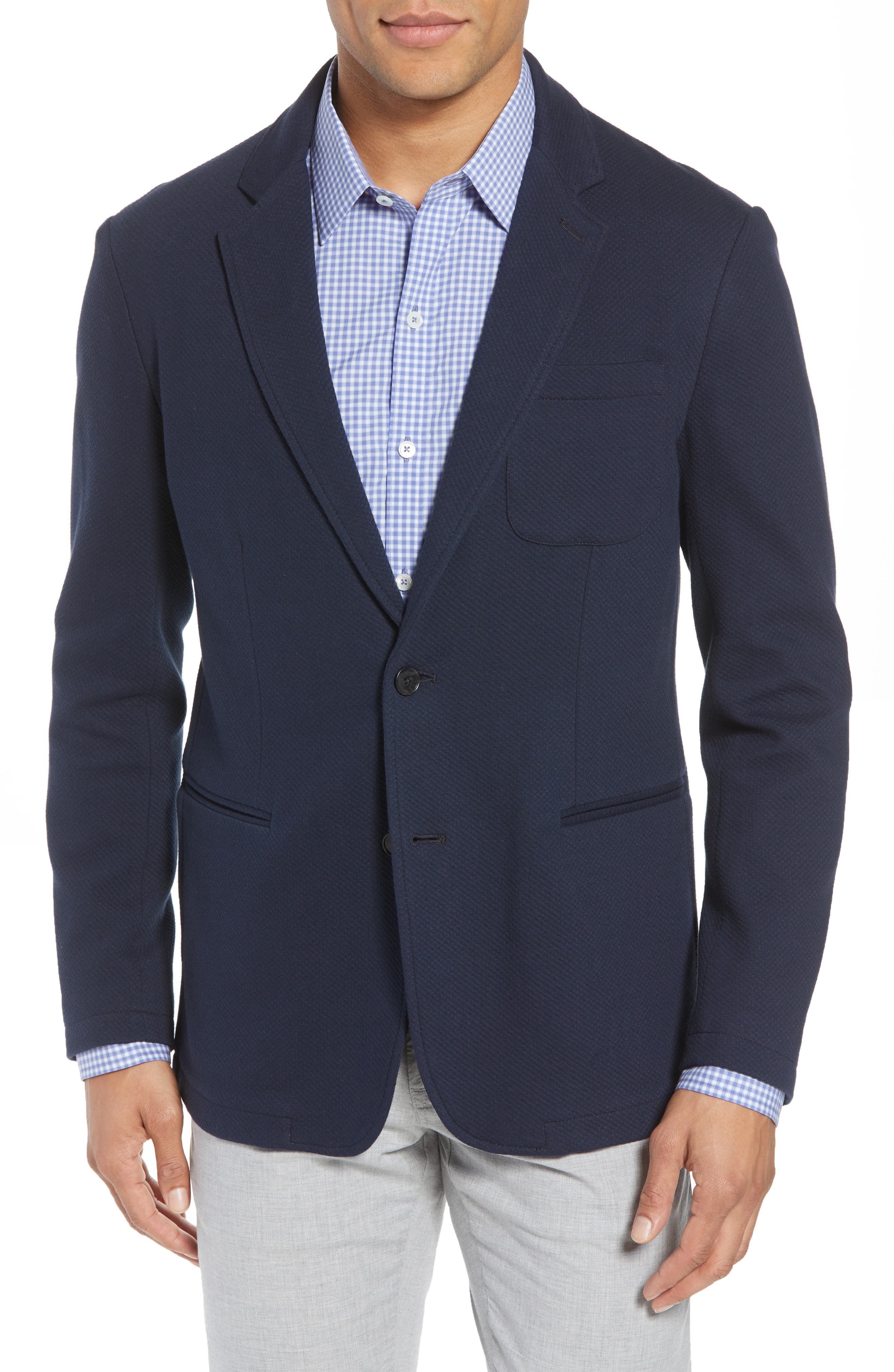 Baylor Regular Fit Knit Sport Coat,                             Main thumbnail 1, color,                             410