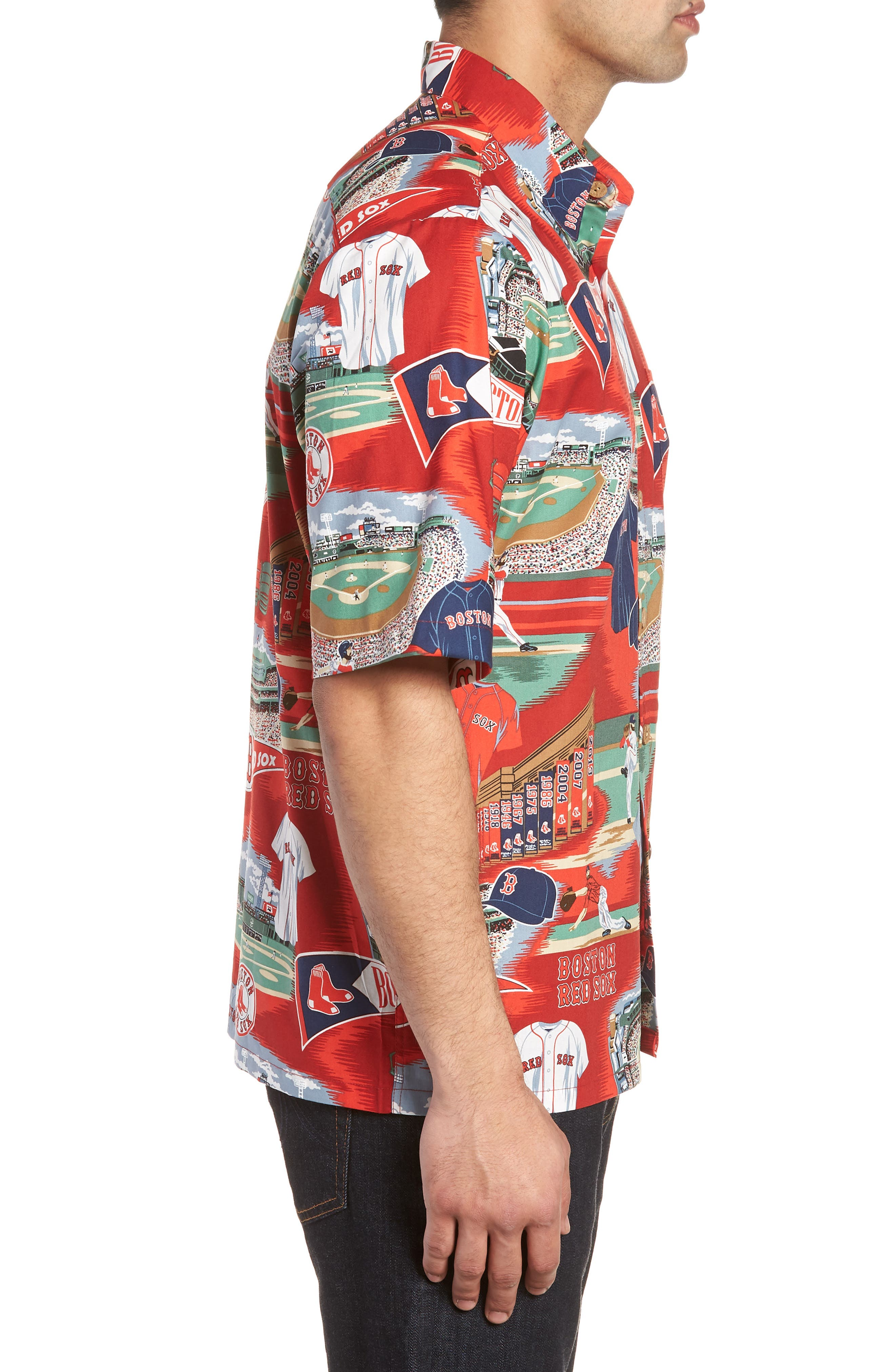 Boston Red Sox Classic Fit Camp Shirt,                             Alternate thumbnail 3, color,                             115