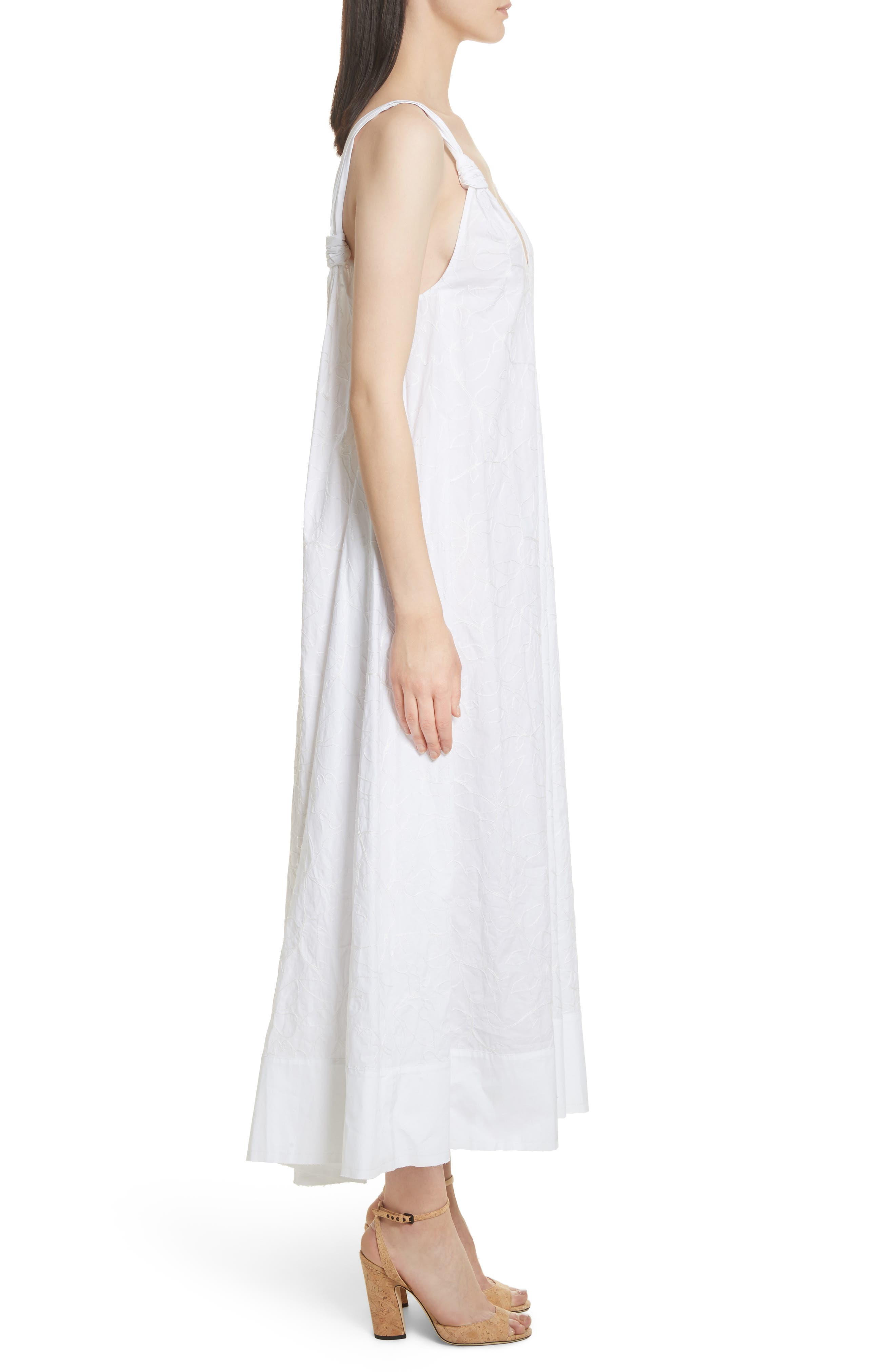 ELIZABETH AND JAMES,                             Denali Embroidered Maxi Dress,                             Alternate thumbnail 3, color,                             100
