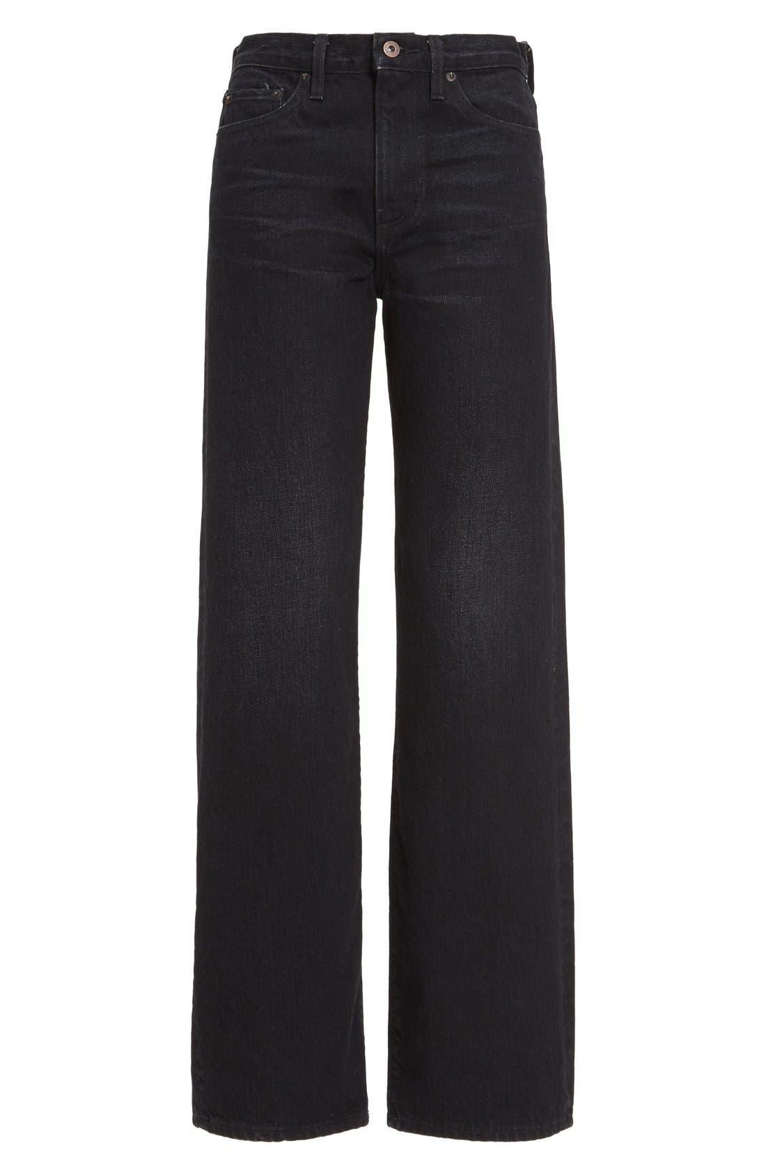 Wide Leg Jeans,                             Alternate thumbnail 7, color,                             001
