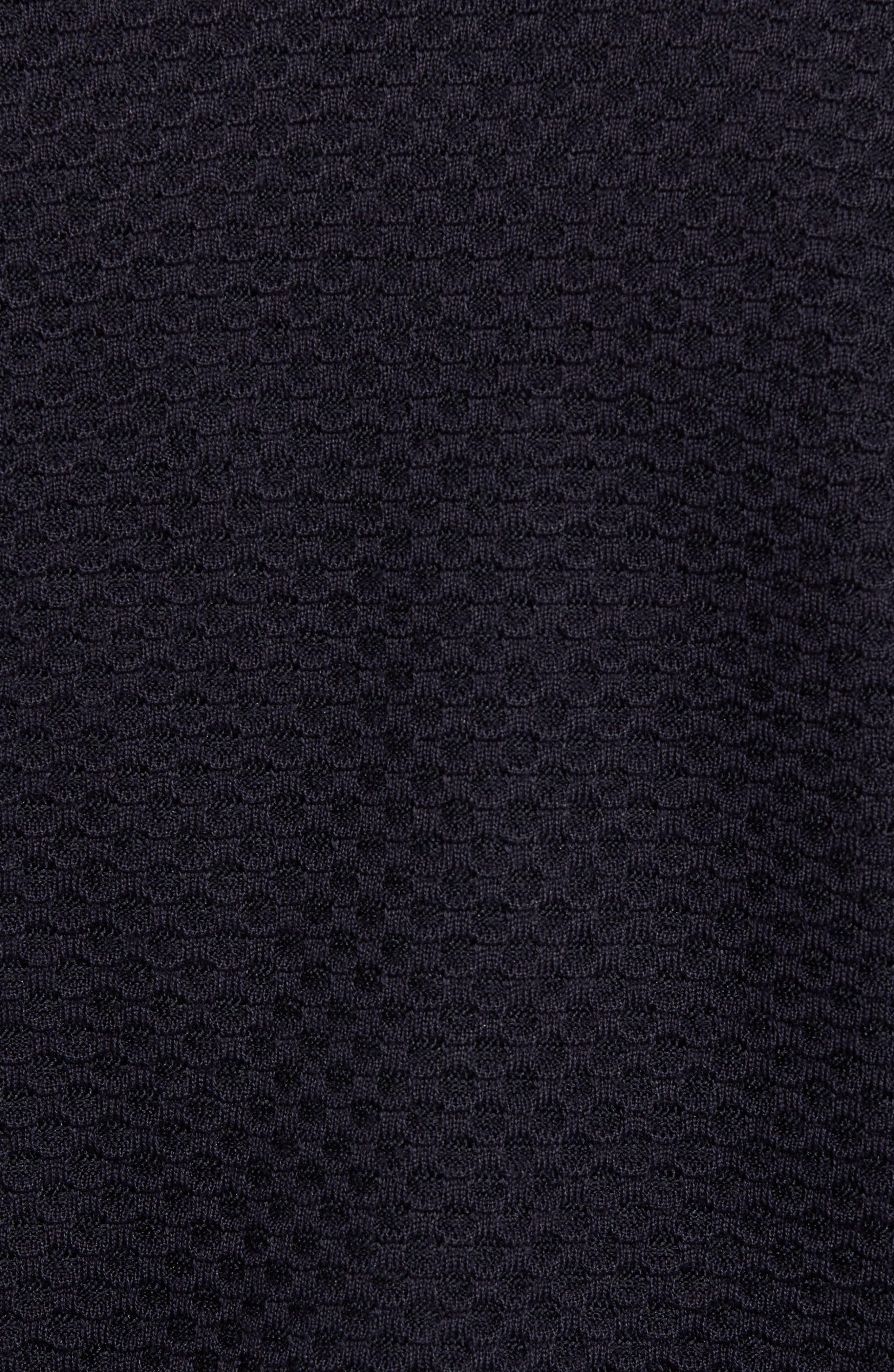 Structured Blazer Cardigan,                             Alternate thumbnail 5, color,                             001