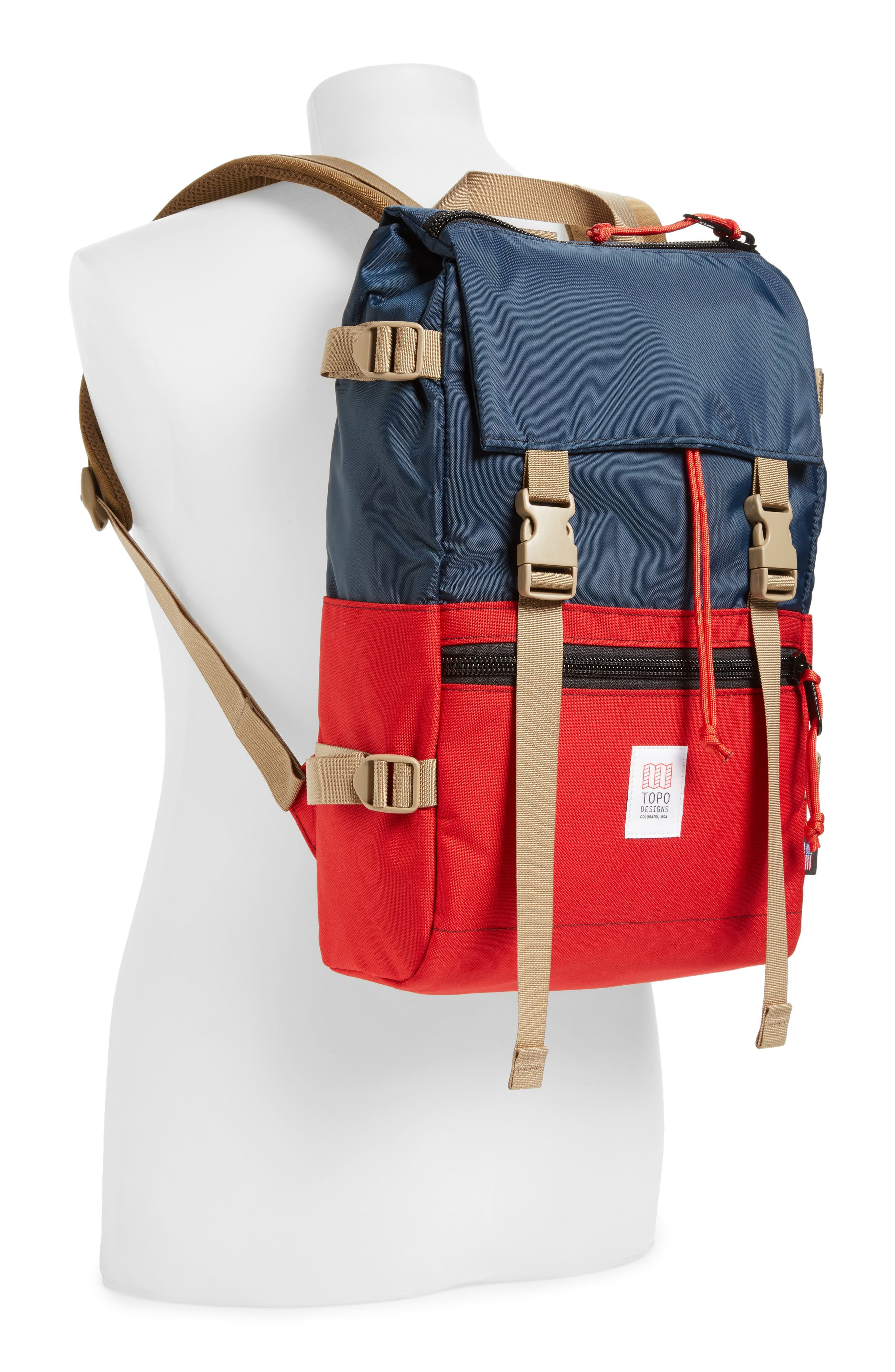 'Rover' Backpack,                             Alternate thumbnail 2, color,                             NAVY/ RED