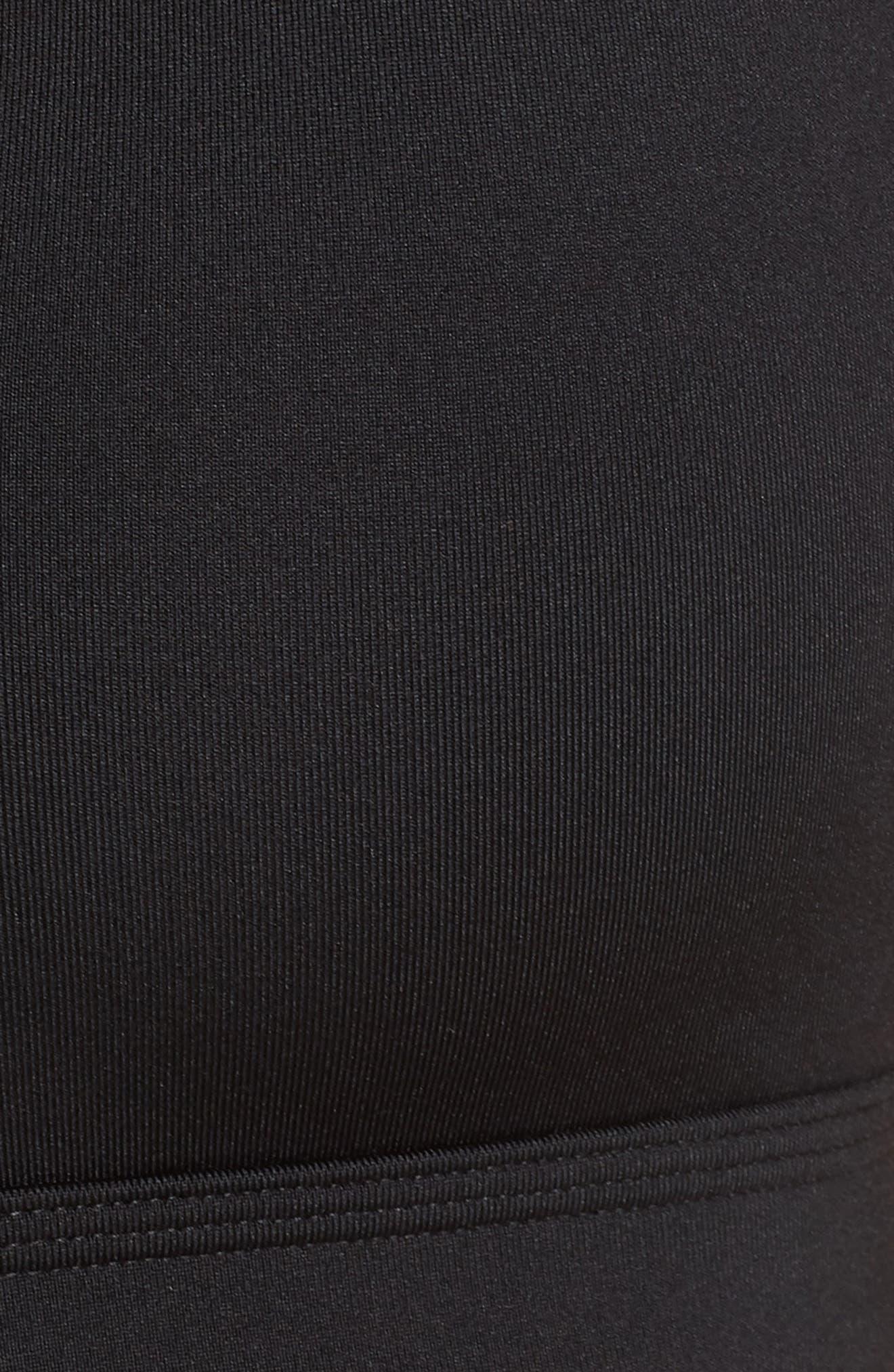 Indy Dry Cutout Sports Bra,                             Alternate thumbnail 6, color,                             BLACK/ WHITE