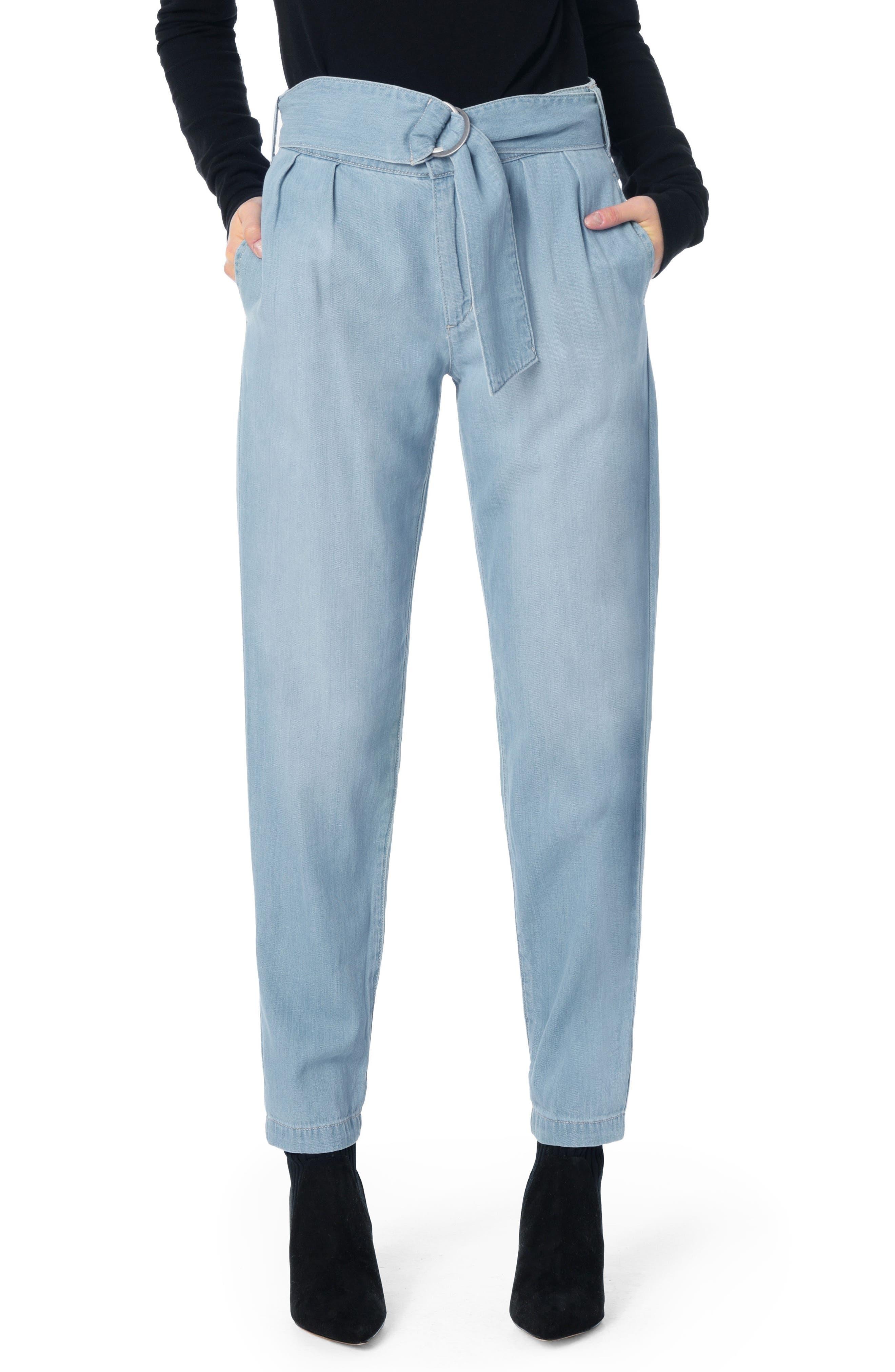 Paperbag Trouser Pants,                             Main thumbnail 1, color,                             MARIANNE