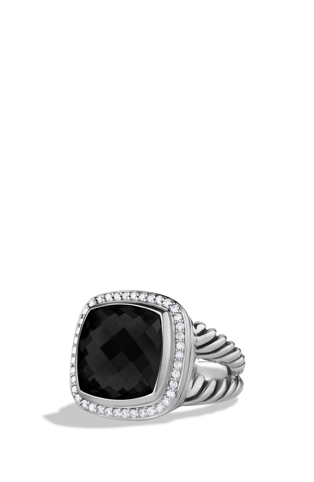 'Albion' Ring with Semiprecious Stone & Diamonds,                         Main,                         color, 001