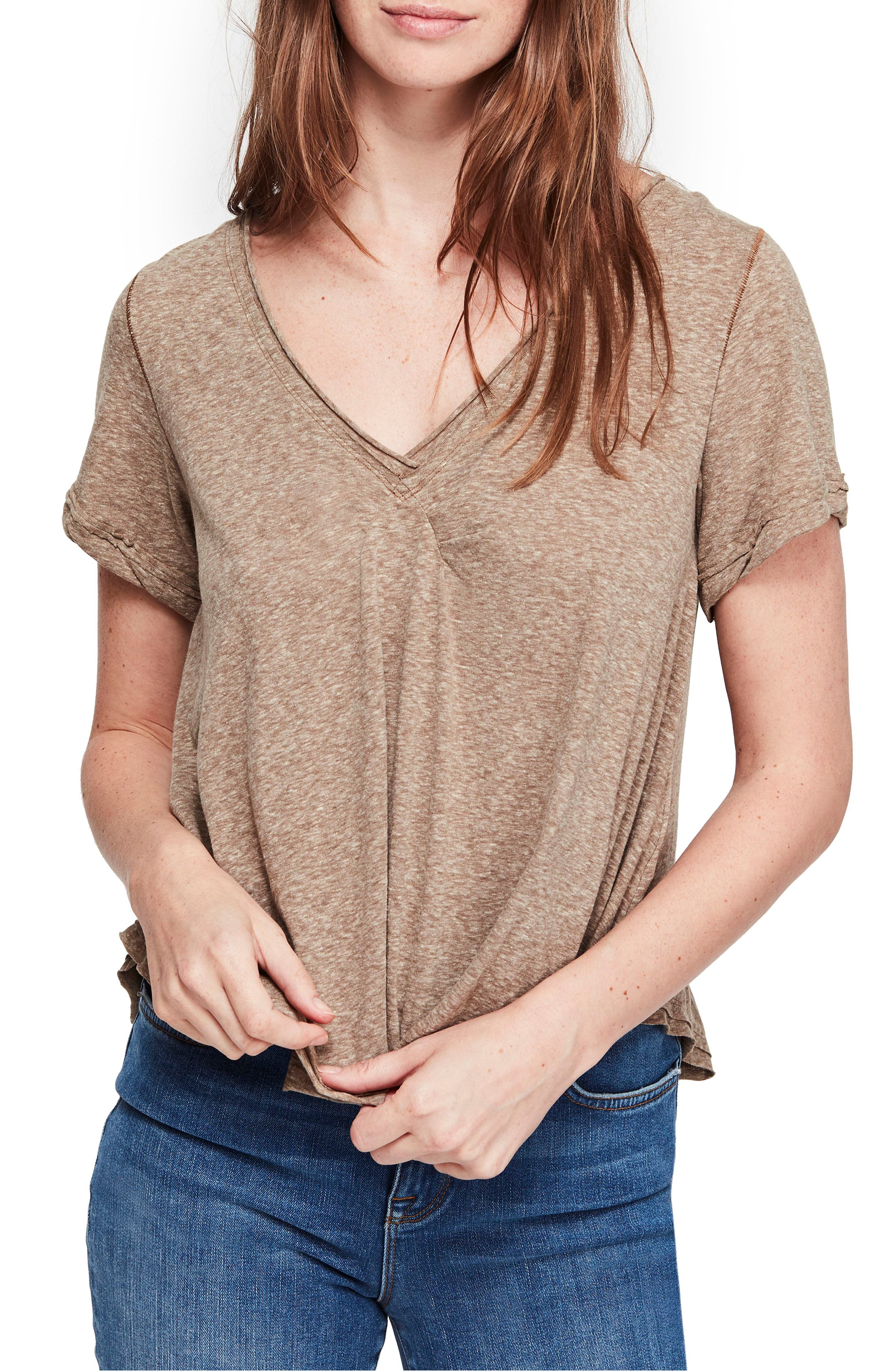 Free People All You Need Tee, Brown