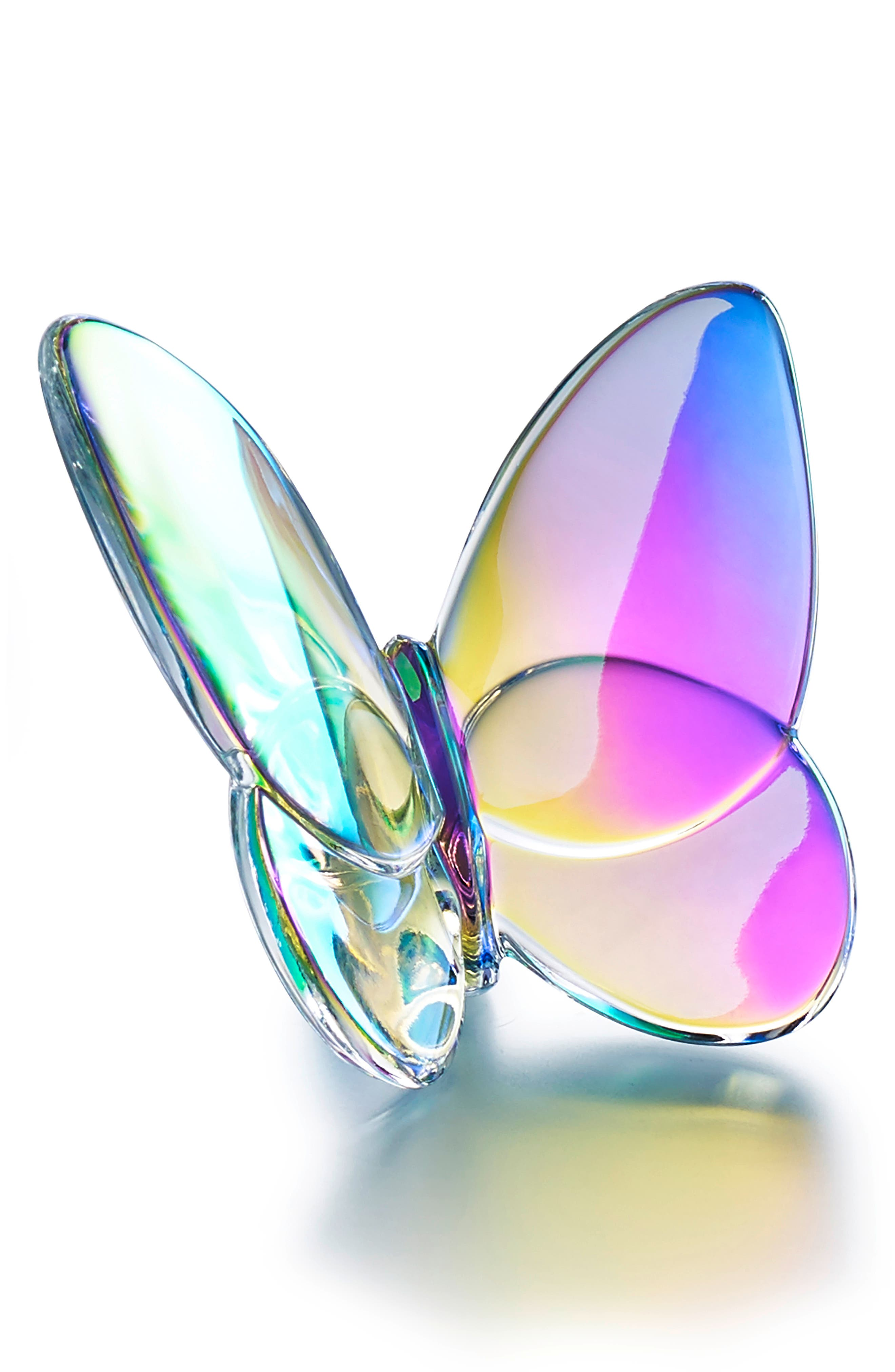 Lucky Lead Crystal Butterfly,                             Main thumbnail 1, color,                             IRIDESCENT