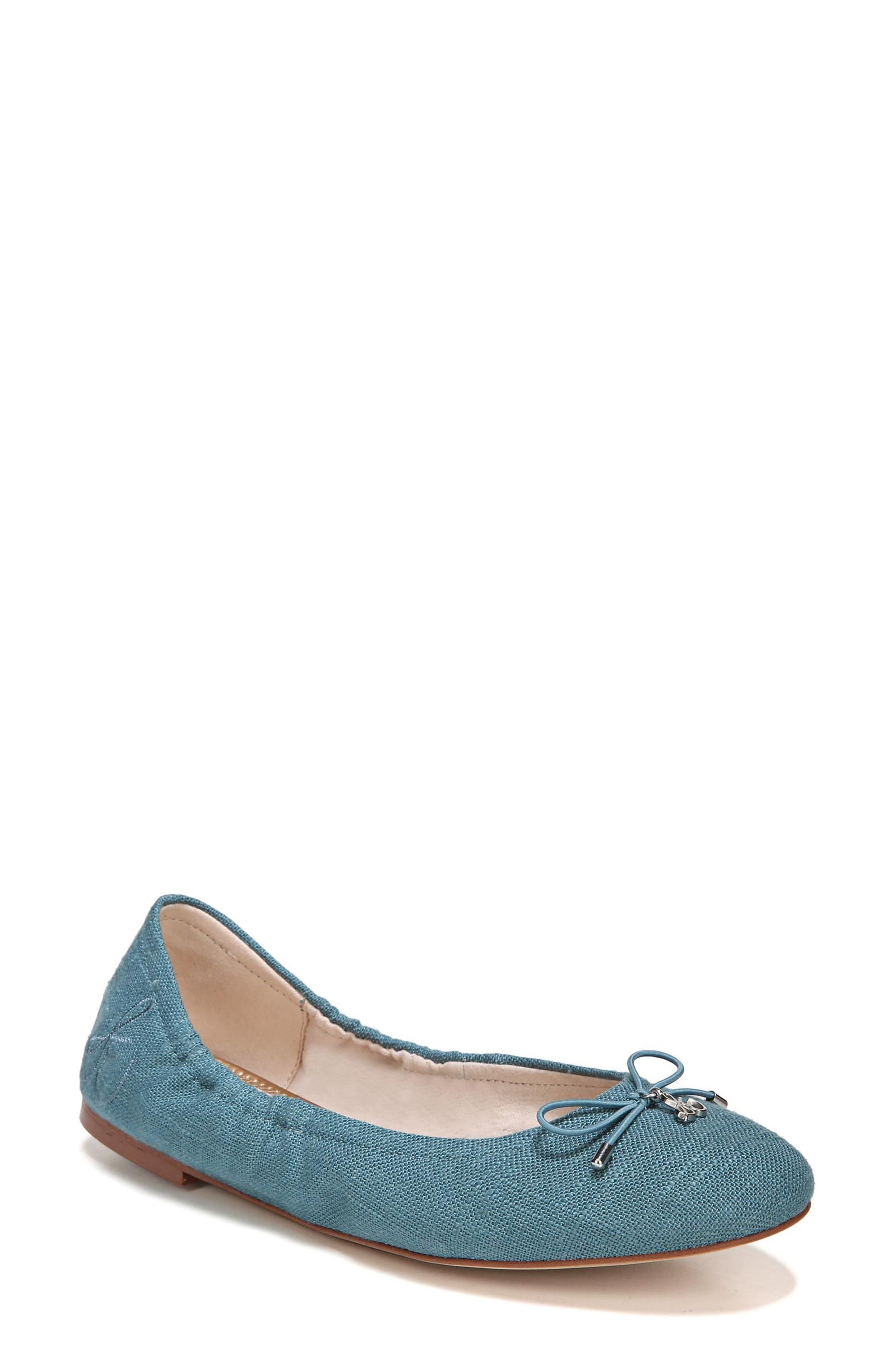 Felicia Flat,                         Main,                         color, DENIM BLUE FABRIC