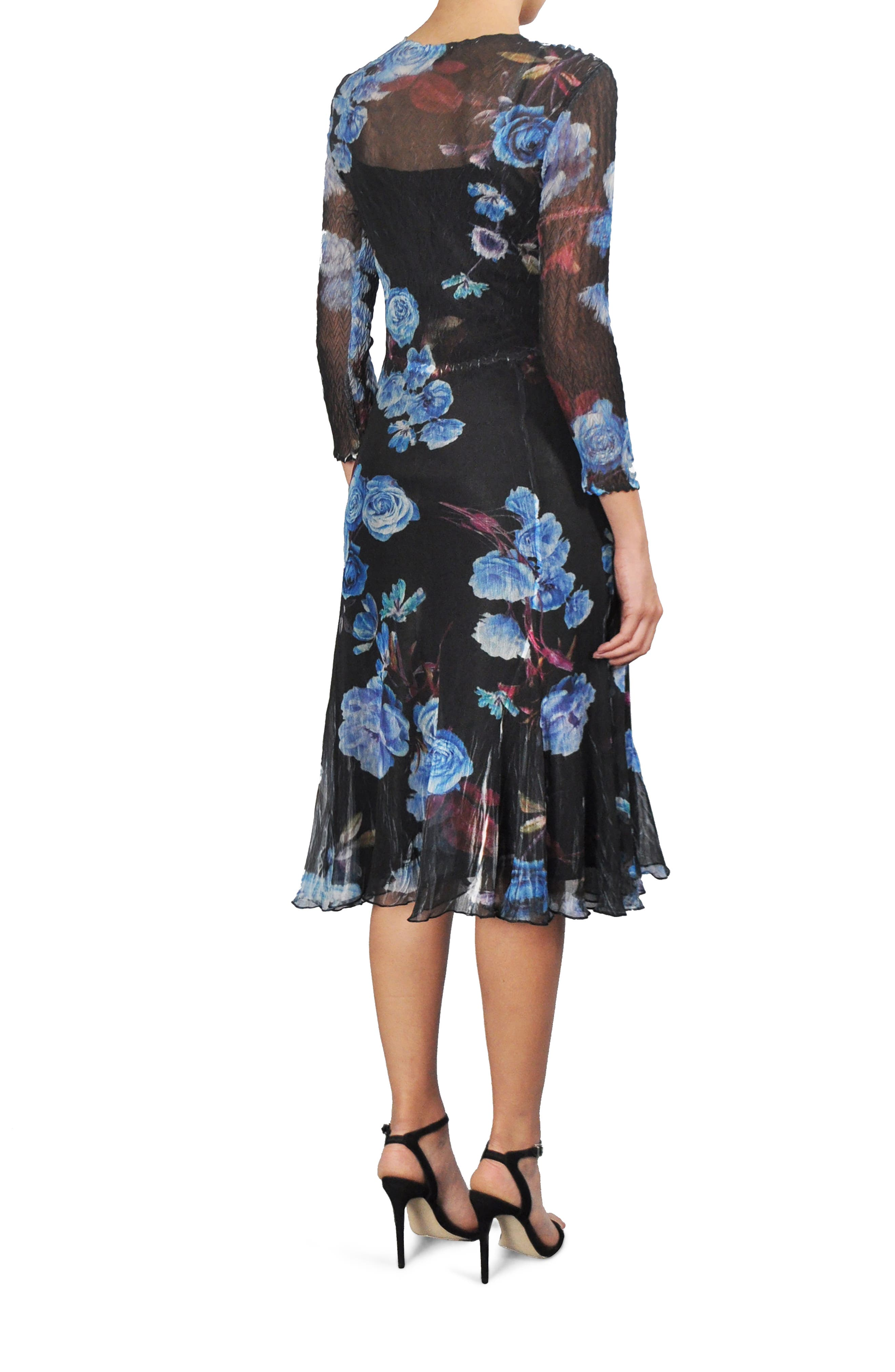 Print Chiffon A-Line Dress,                             Alternate thumbnail 2, color,