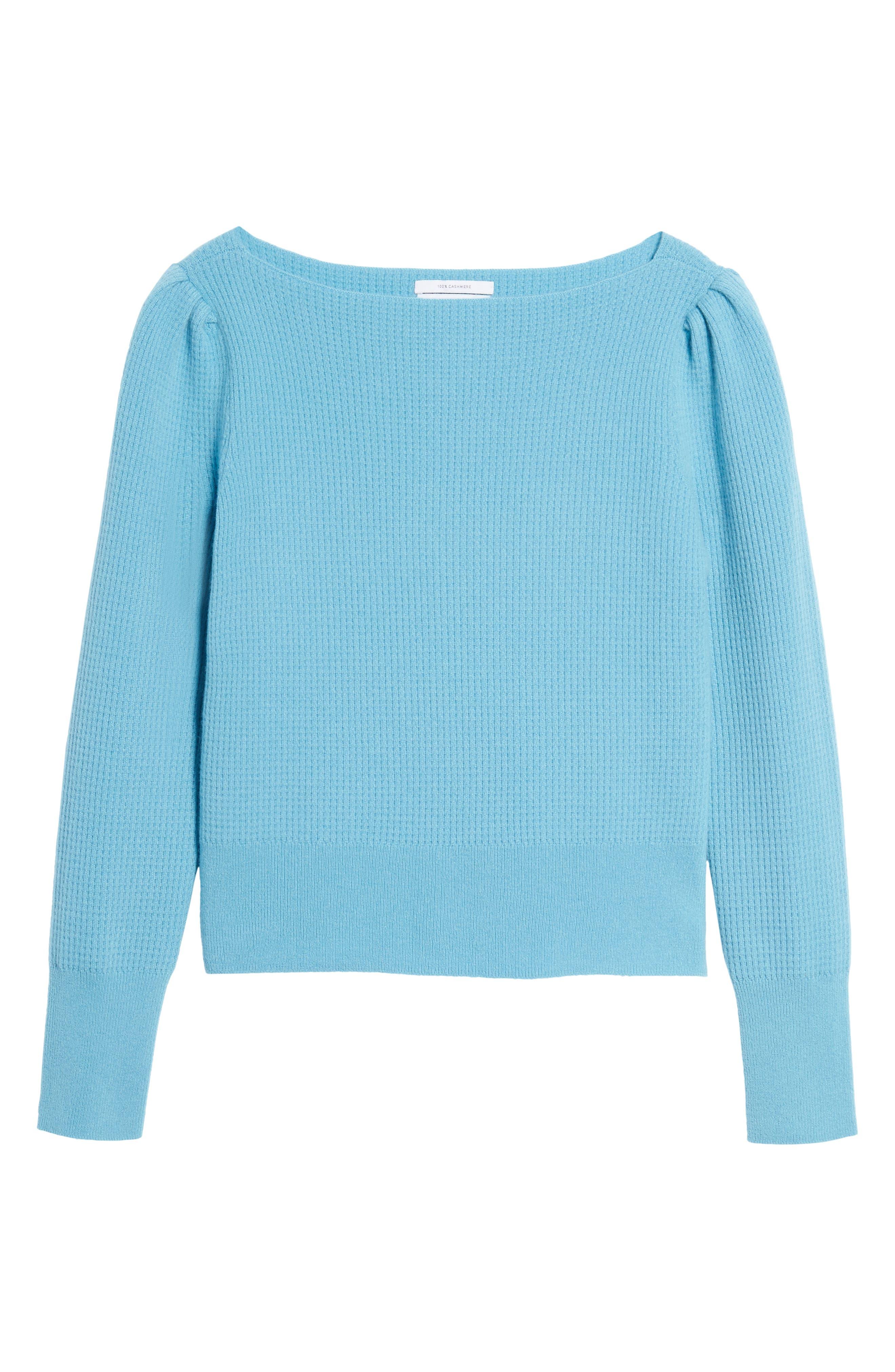 Waffle Stitch Cashmere Sweater,                             Alternate thumbnail 11, color,