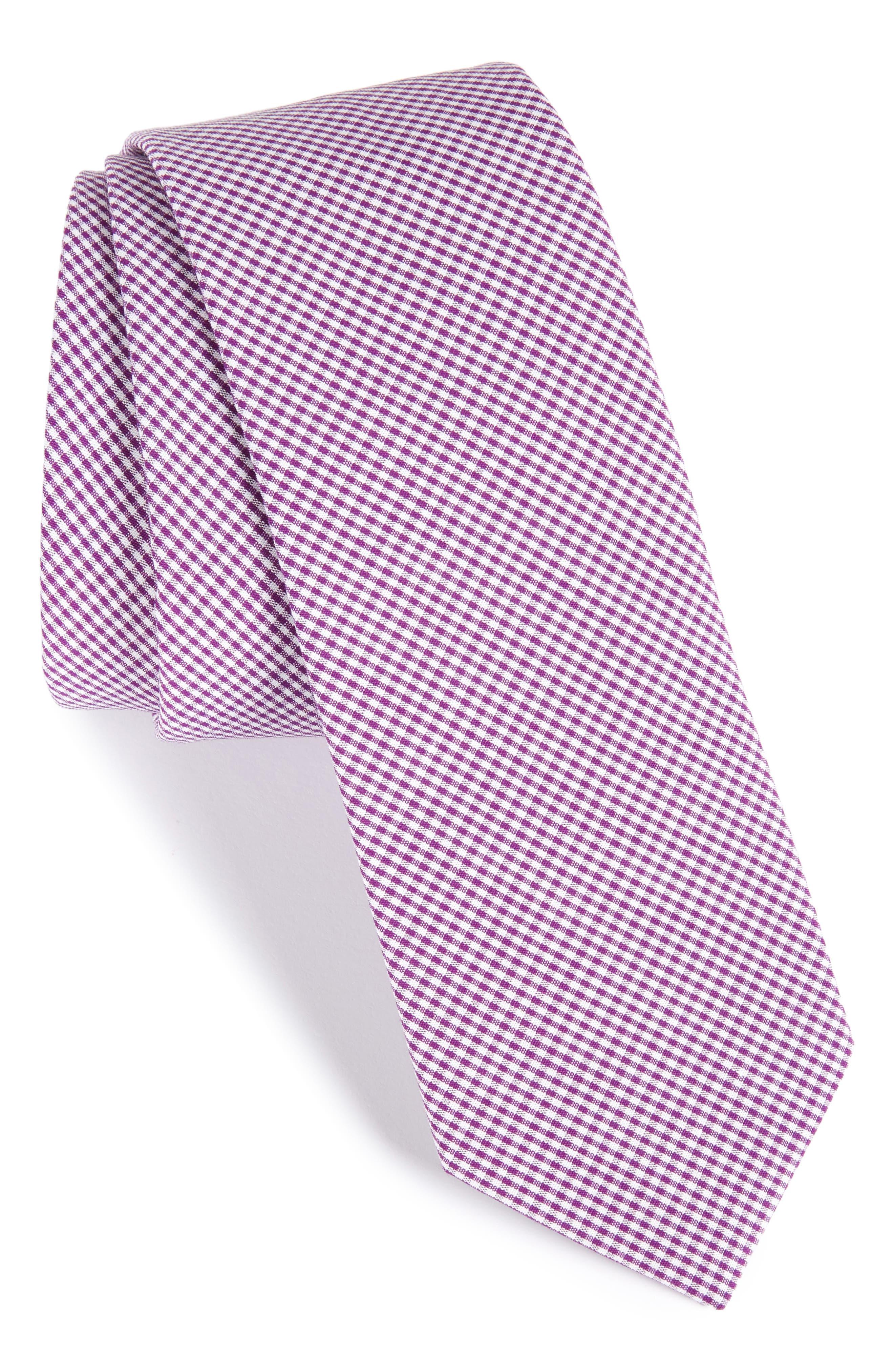 Check Cotton Tie,                             Main thumbnail 8, color,