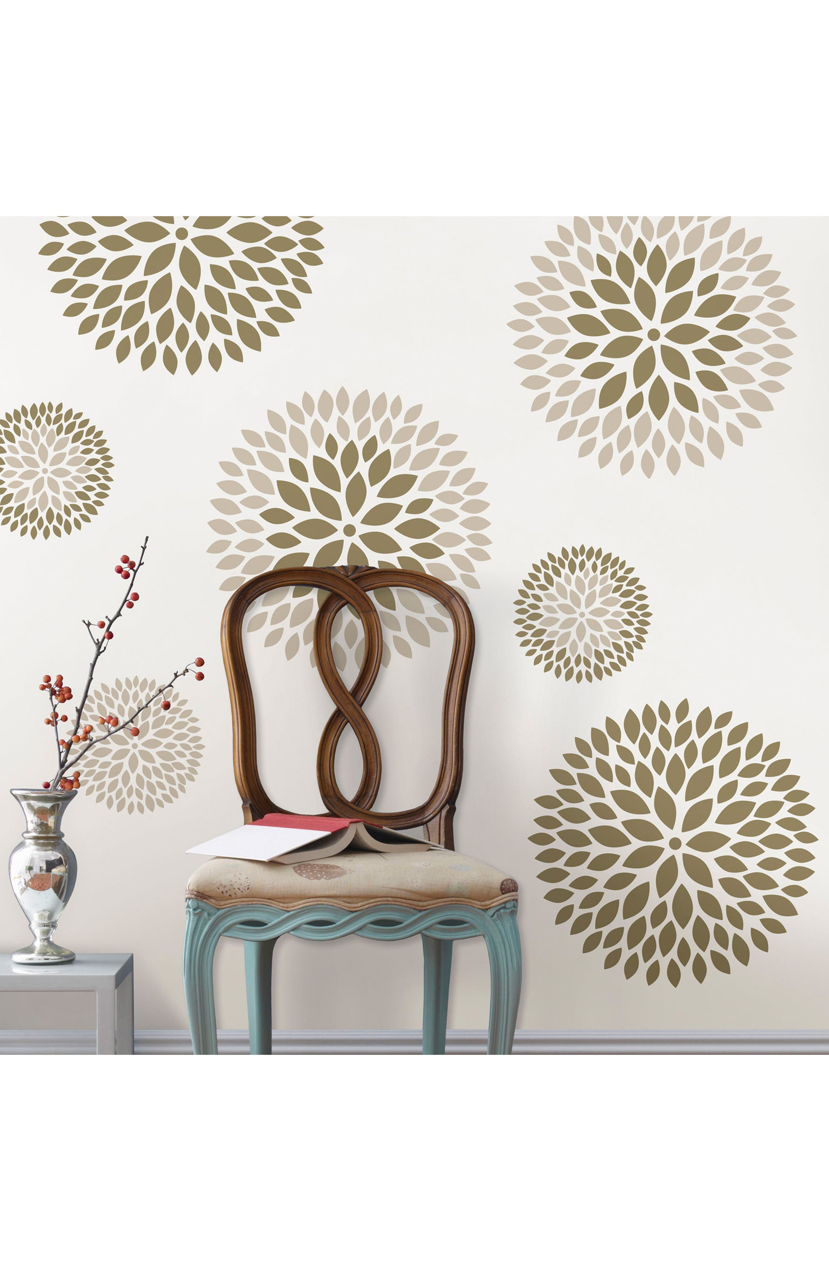 Chrysanthemum 8-Piece Wall Art Decal Set,                             Alternate thumbnail 3, color,                             250