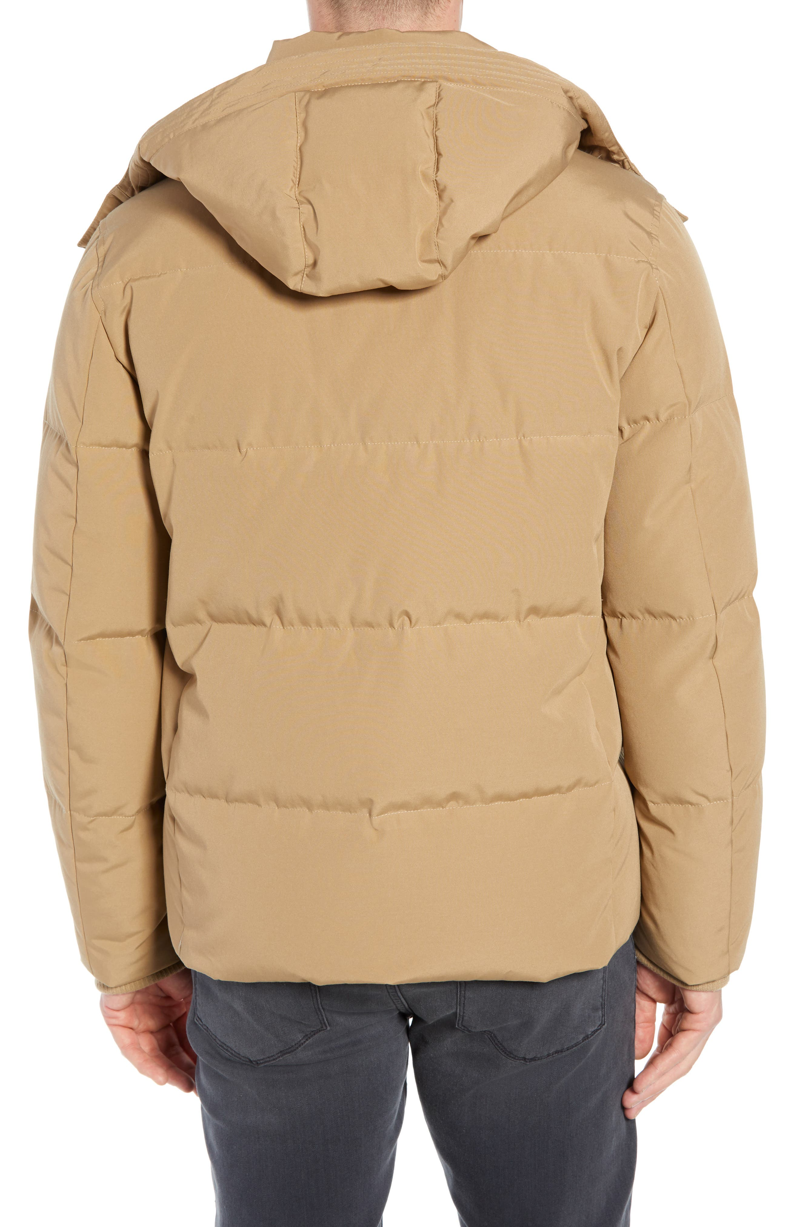 Hooded Puffer Jacket,                             Alternate thumbnail 2, color,                             KHAKI