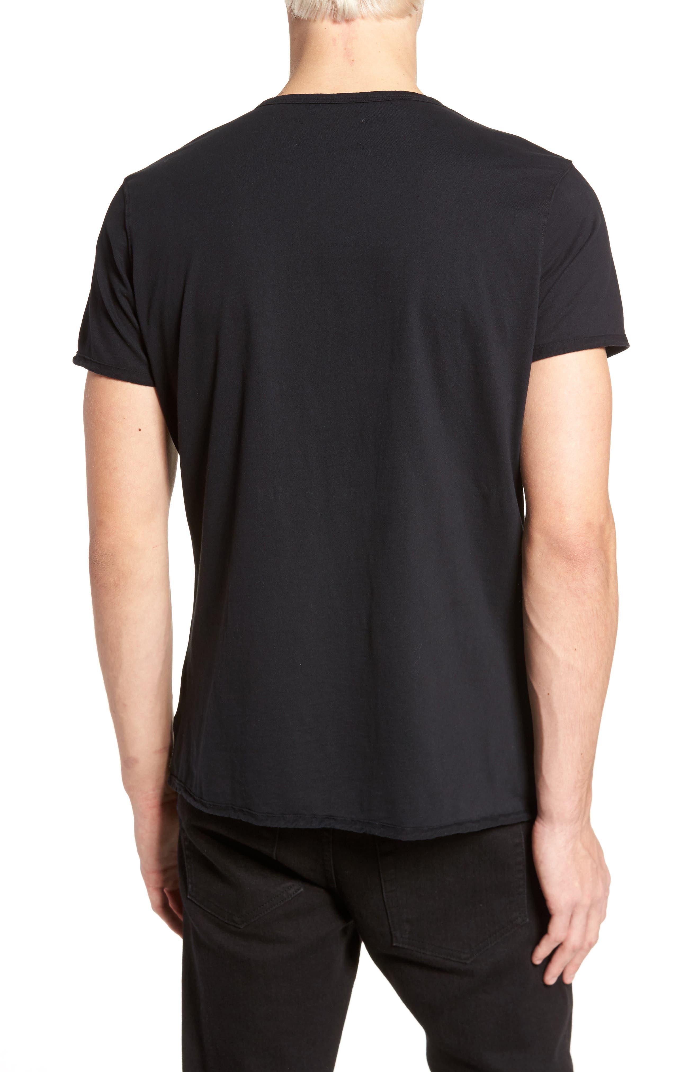 Notch Henley T-Shirt,                             Alternate thumbnail 2, color,                             001
