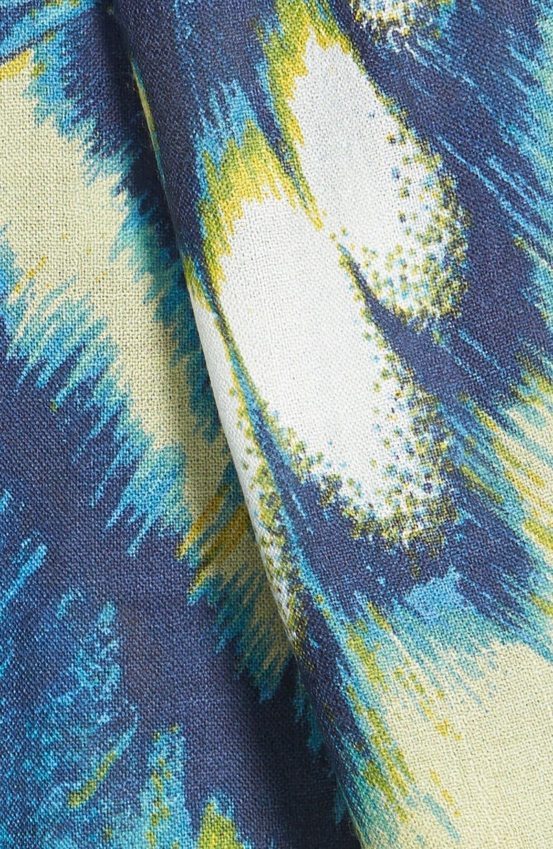 'Papillon Luxe' Challis Scarf,                             Alternate thumbnail 5, color,                             400