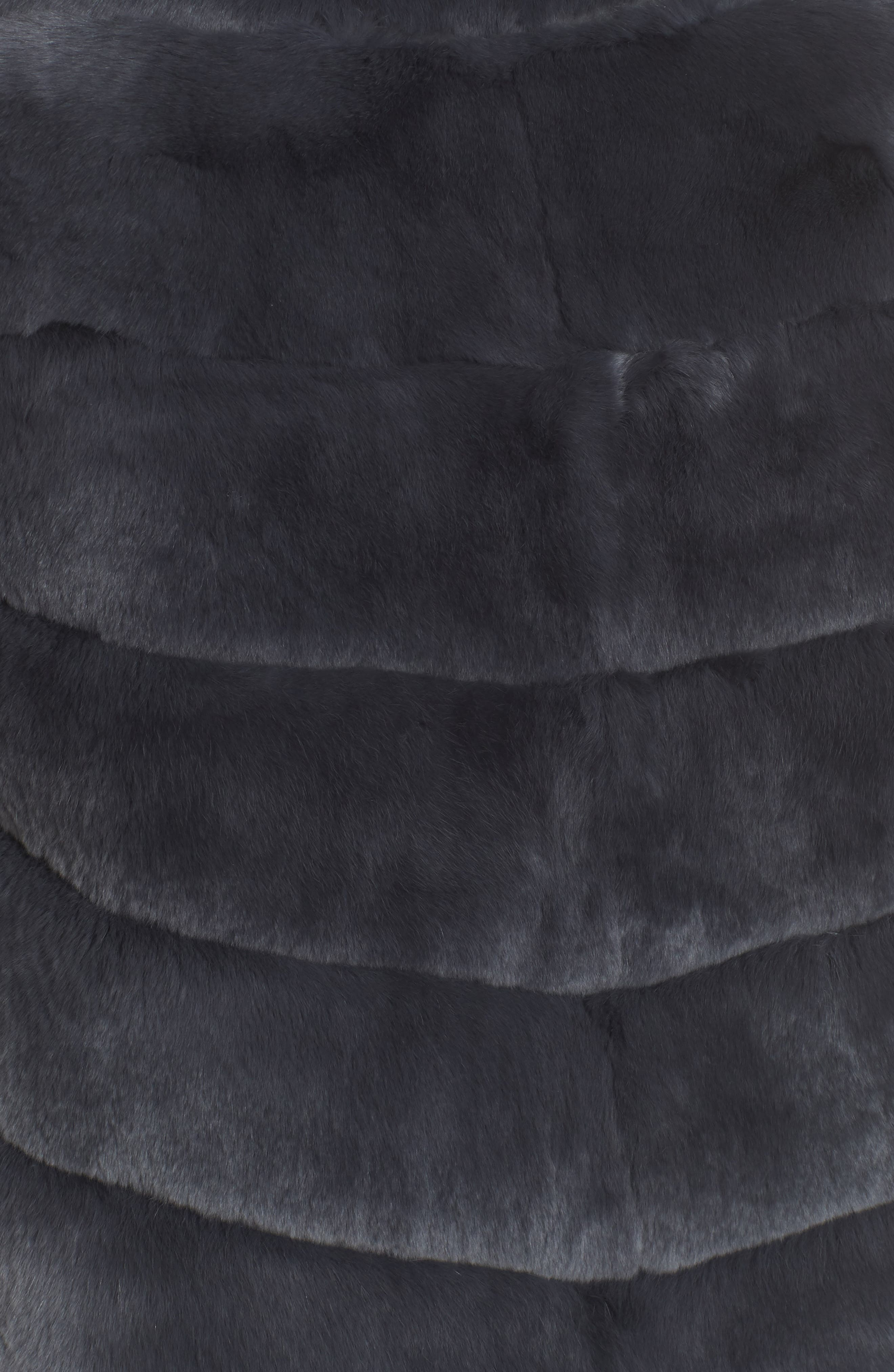 Reversible Genuine Rabbit Fur Vest,                             Alternate thumbnail 6, color,                             410