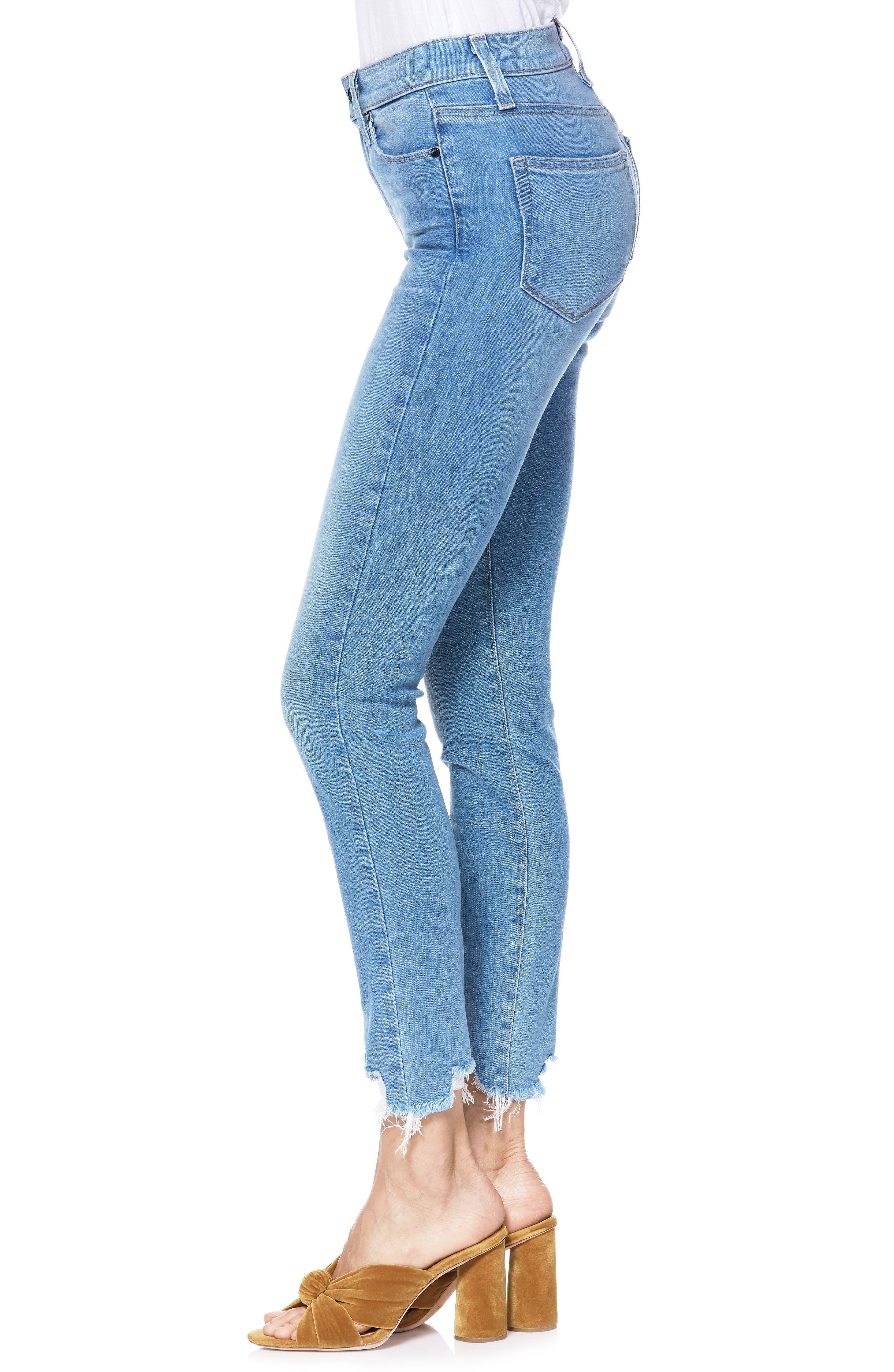 Transcend Vintage - Hoxton High Waist Ripped Crop Skinny Jeans,                             Alternate thumbnail 3, color,                             ALAMEDA
