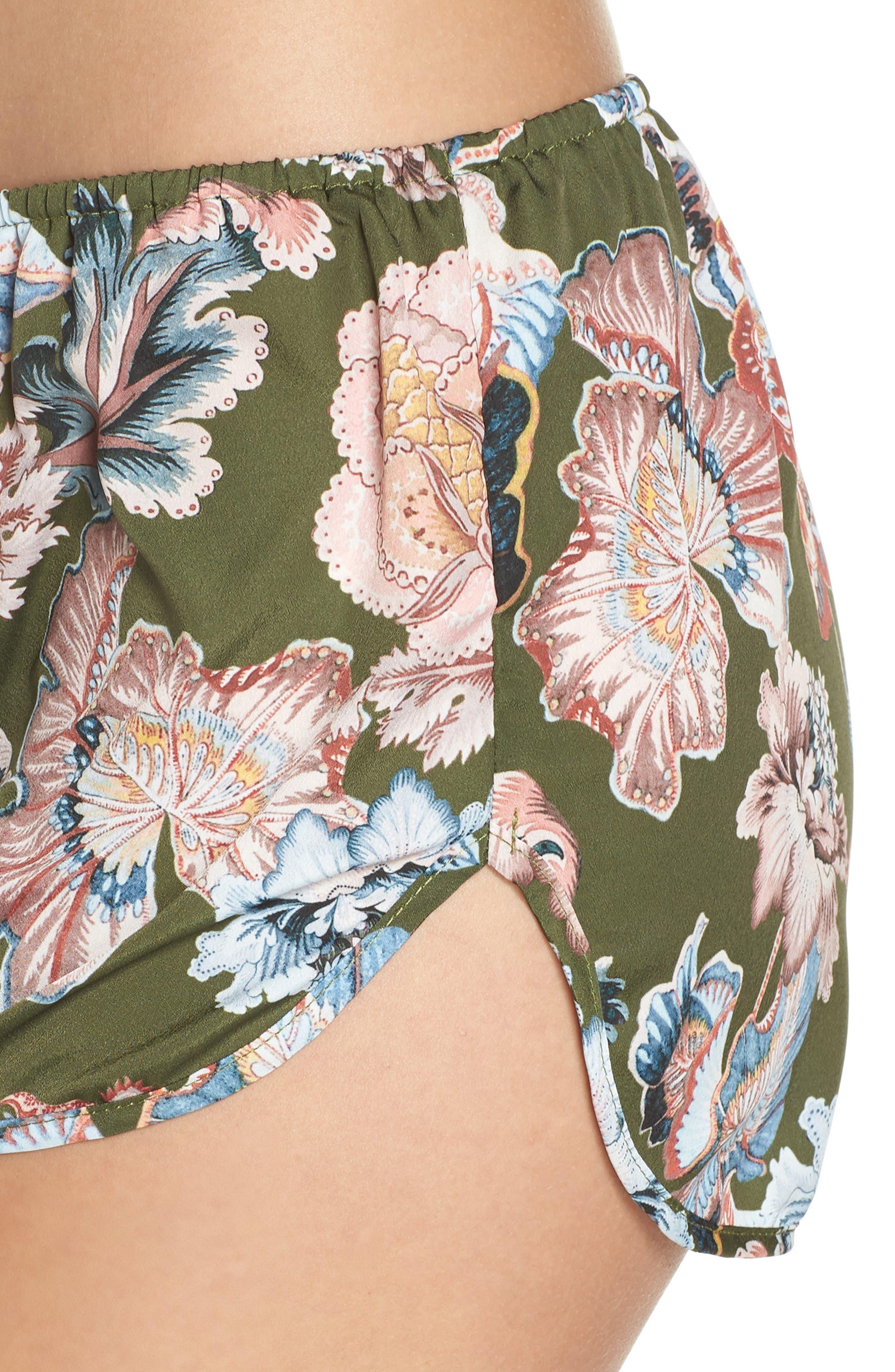 Lola Shorts,                             Alternate thumbnail 4, color,                             OLIVE FLORAL