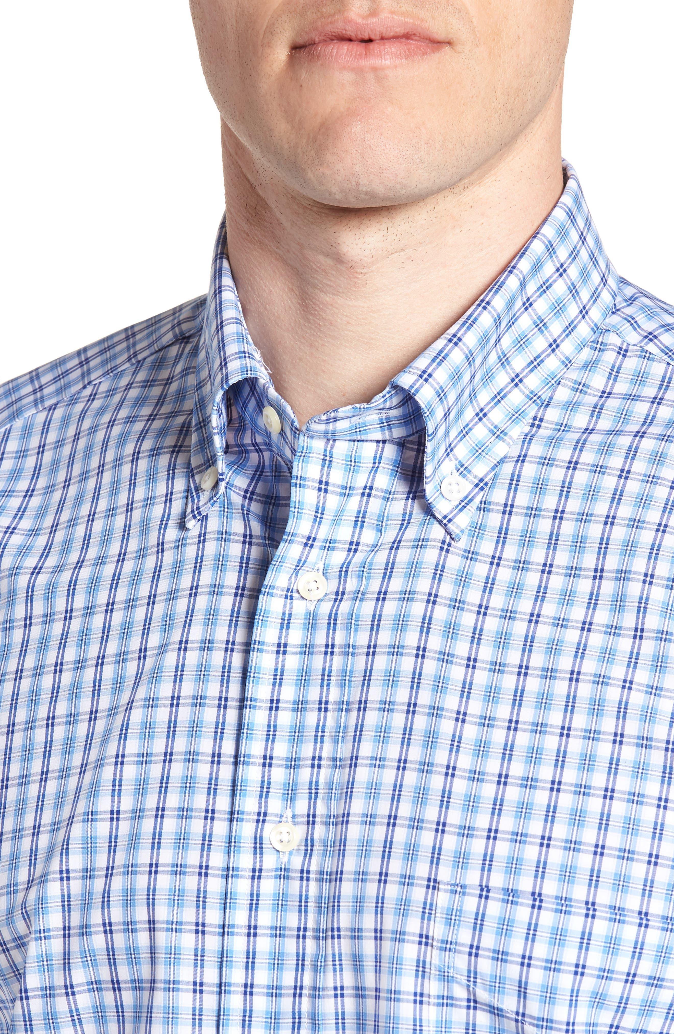 Tailored Fit Plaid Dress Shirt,                             Alternate thumbnail 2, color,                             430