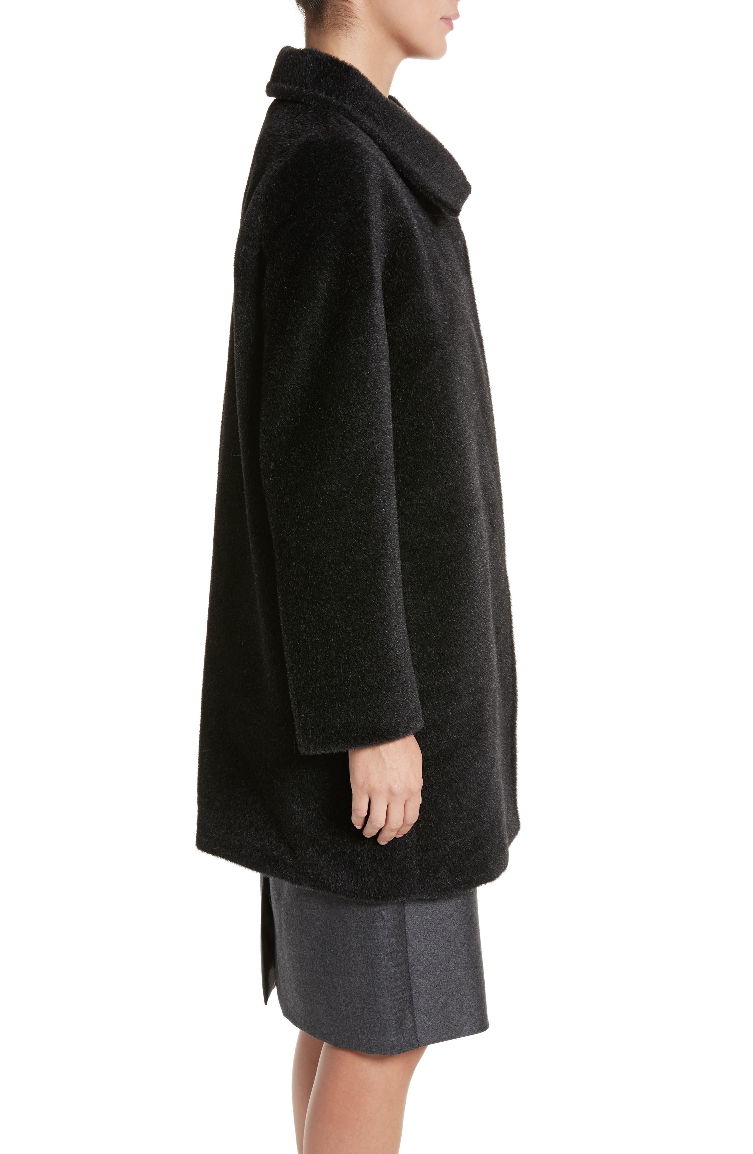 Alpaca & Wool Coat,                             Alternate thumbnail 3, color,                             024