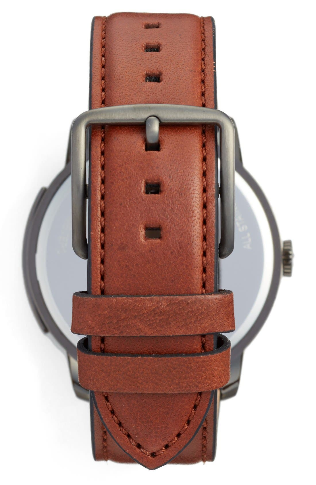 'Bleeker' Leather Strap Watch, 46mm,                             Alternate thumbnail 9, color,