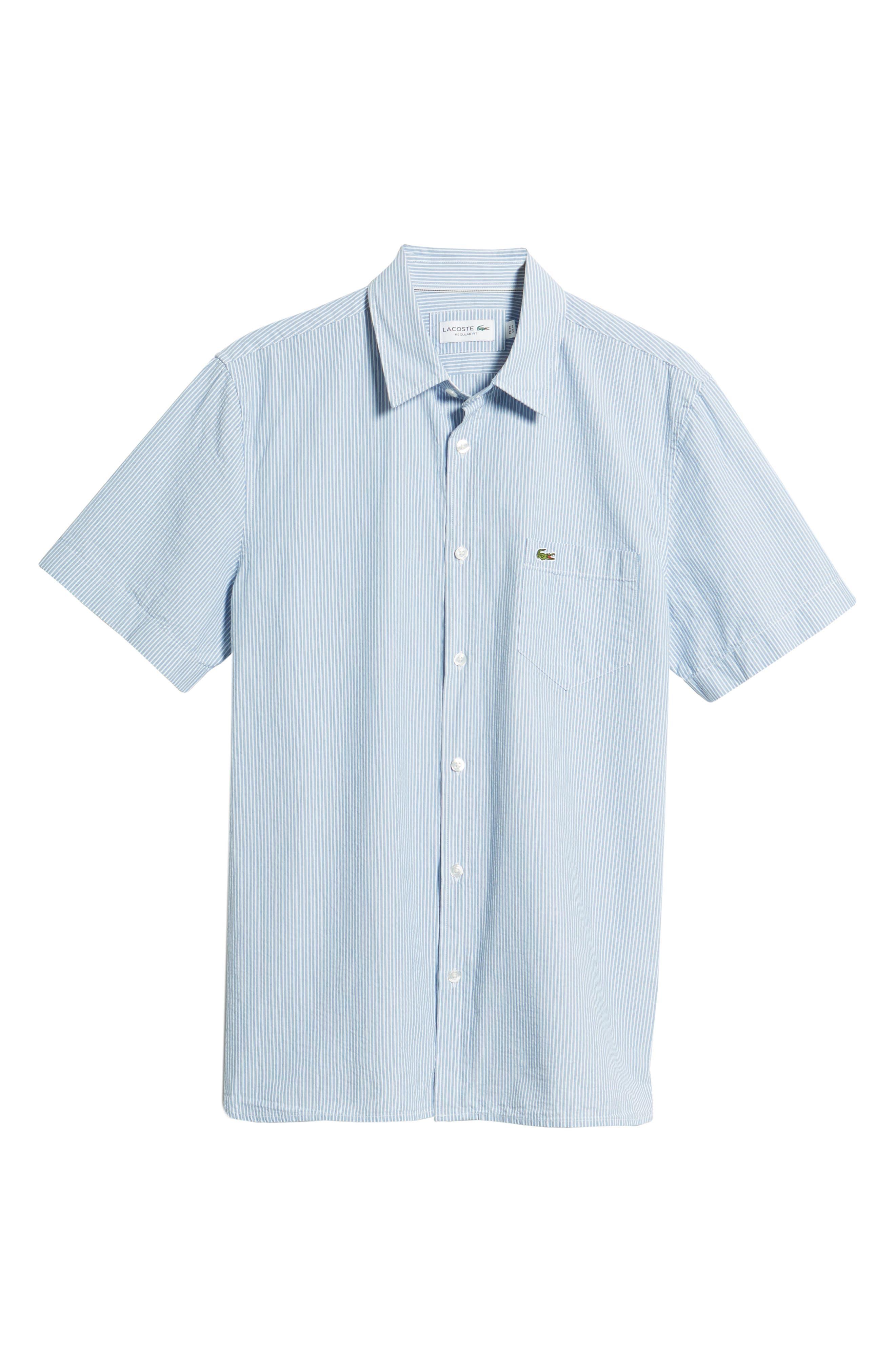 Regular Fit Seersucker Sport Shirt,                             Alternate thumbnail 6, color,                             400