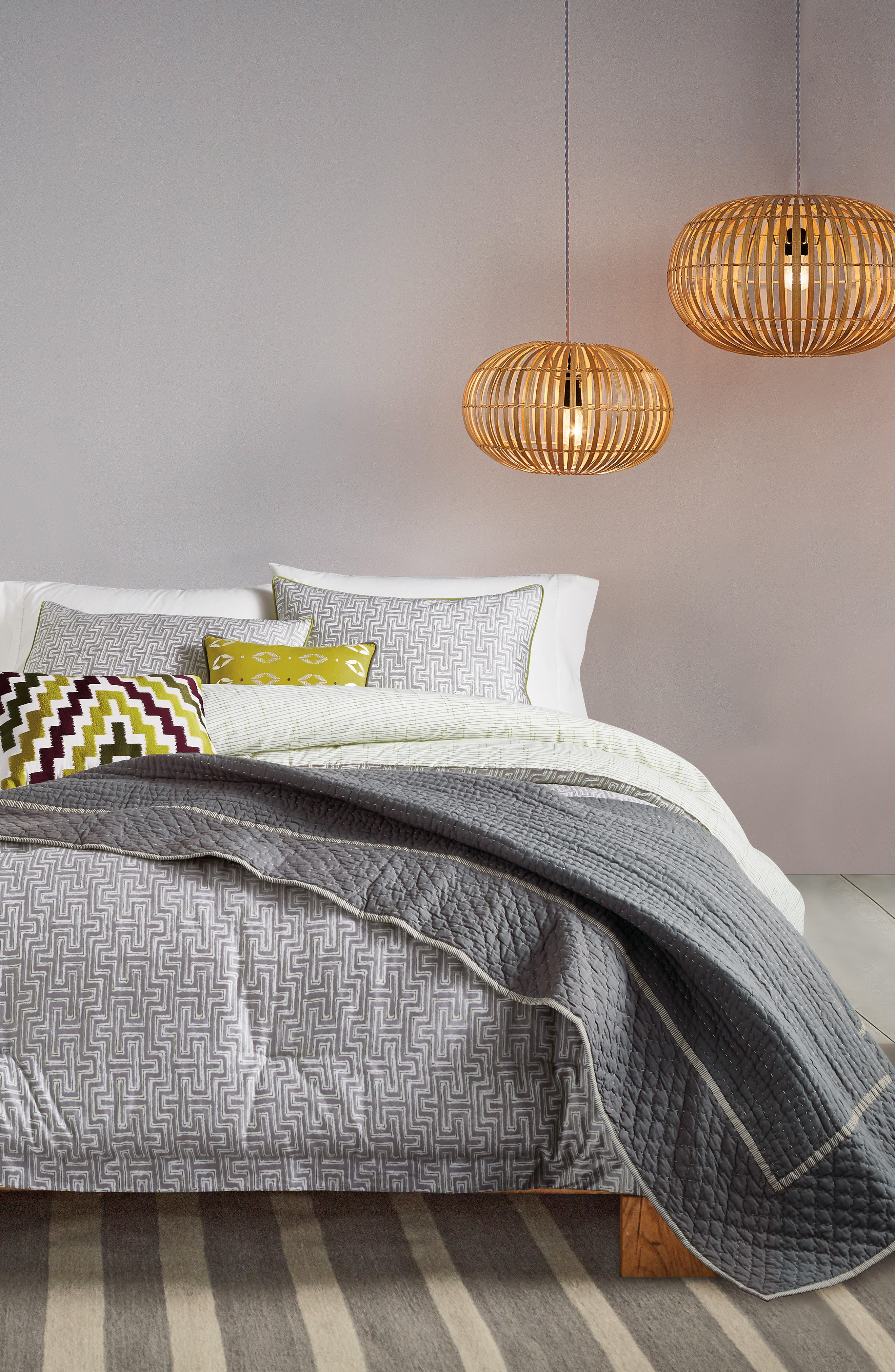 BEDECK,                             Koba Comforter, Sham & Accent Pillow Set,                             Alternate thumbnail 9, color,                             LIGHT GREY
