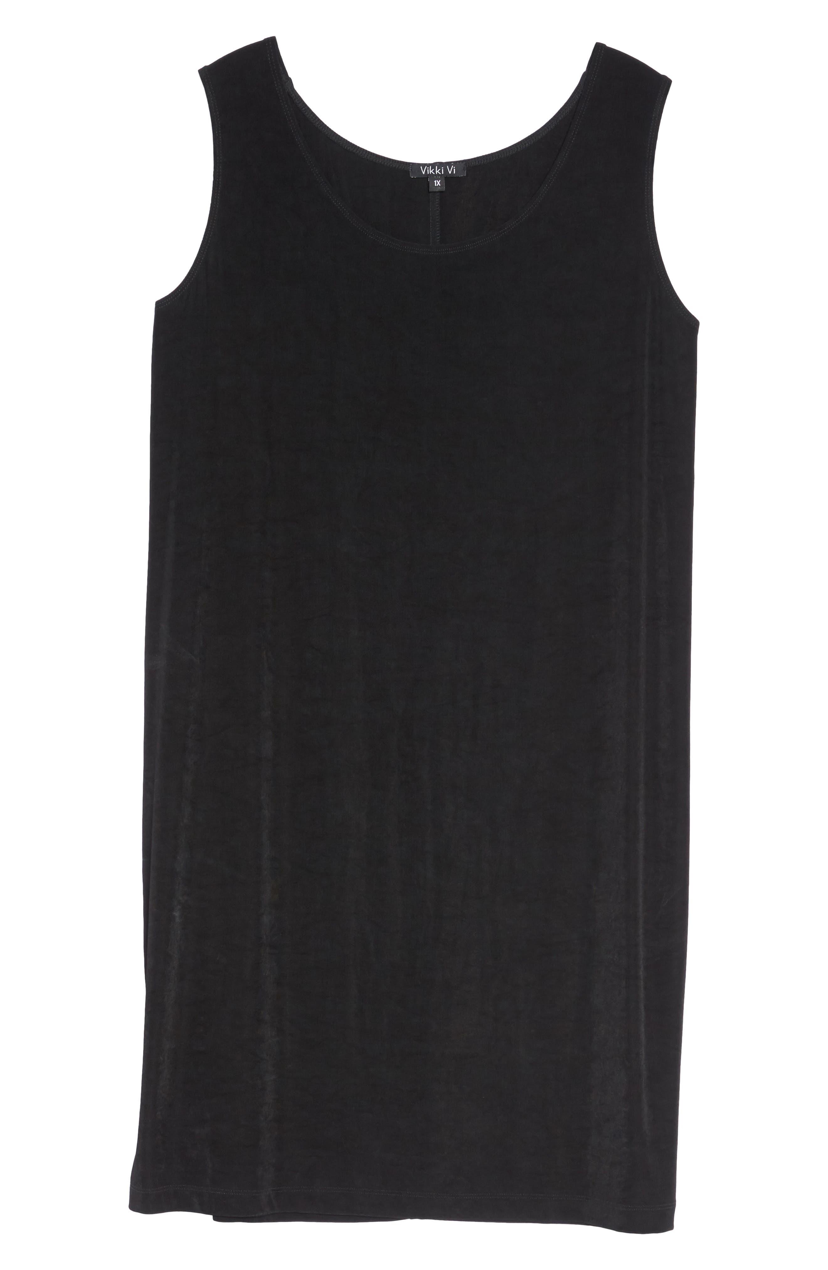 VIKKI VI,                             Sleeveless Shift Dress,                             Alternate thumbnail 6, color,                             BLACK