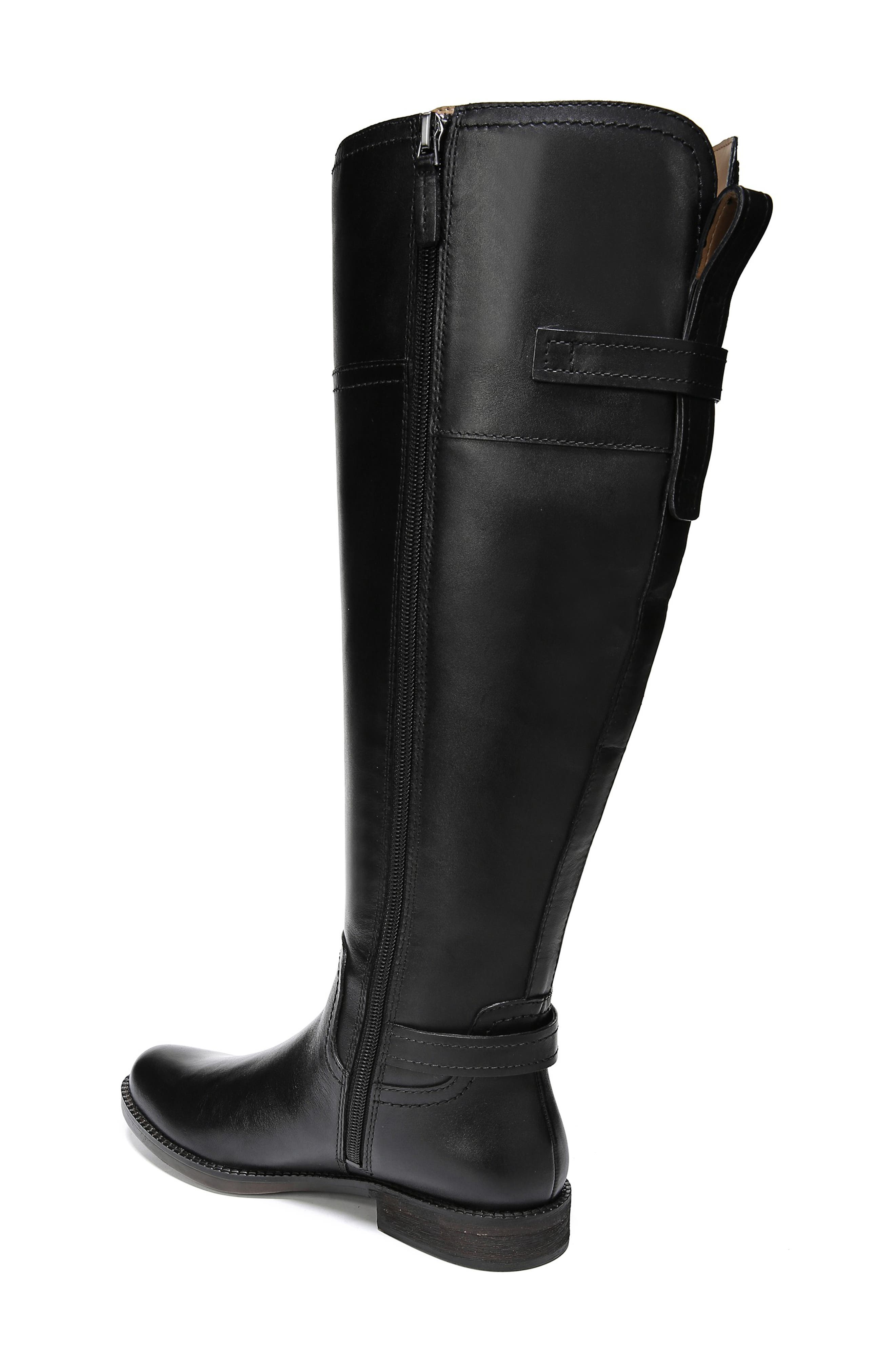 Capitol Riding Boot,                             Alternate thumbnail 2, color,                             BLACK LEATHER