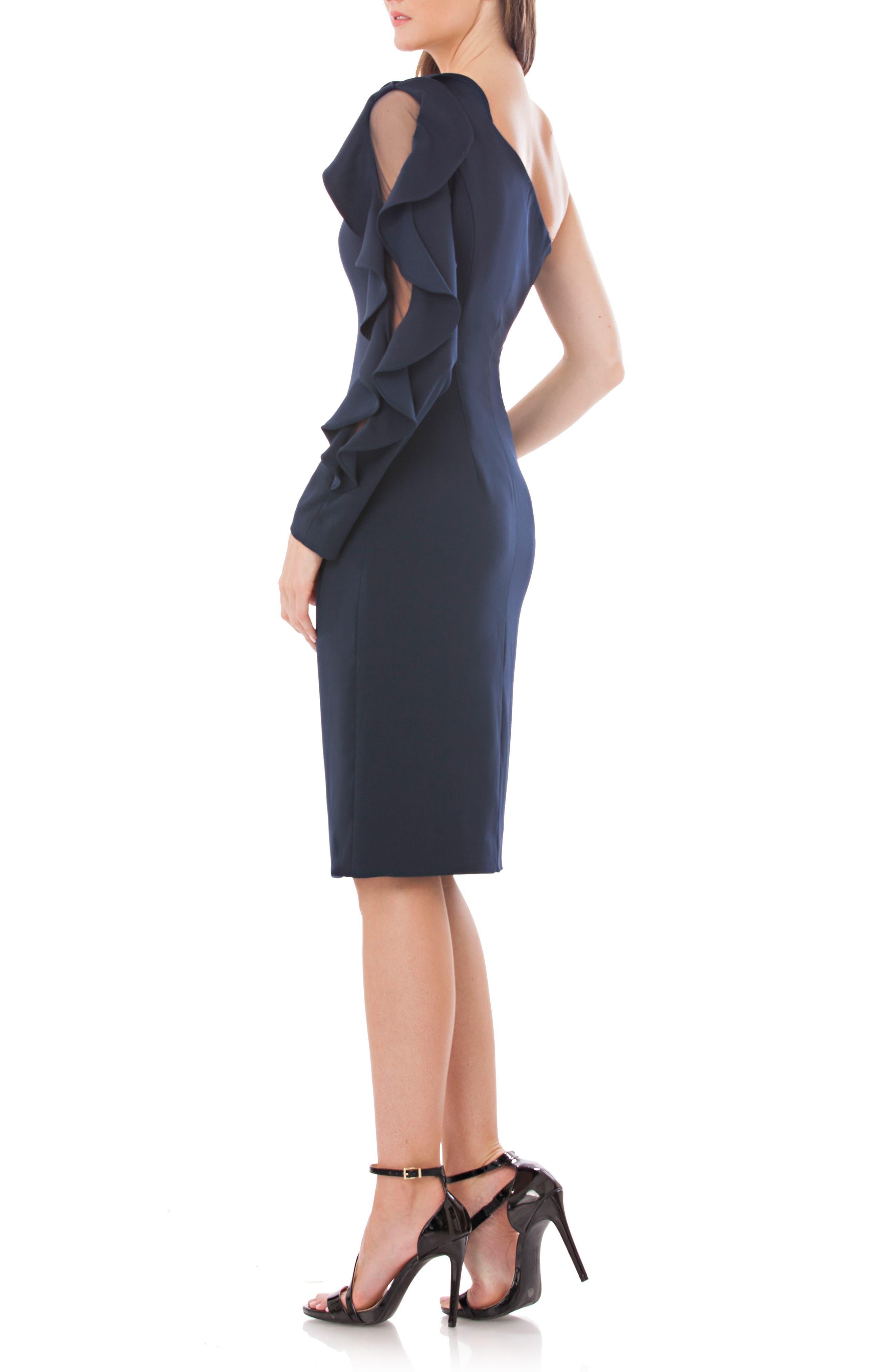 One-Shoulder Sheath Dress,                             Alternate thumbnail 2, color,                             400