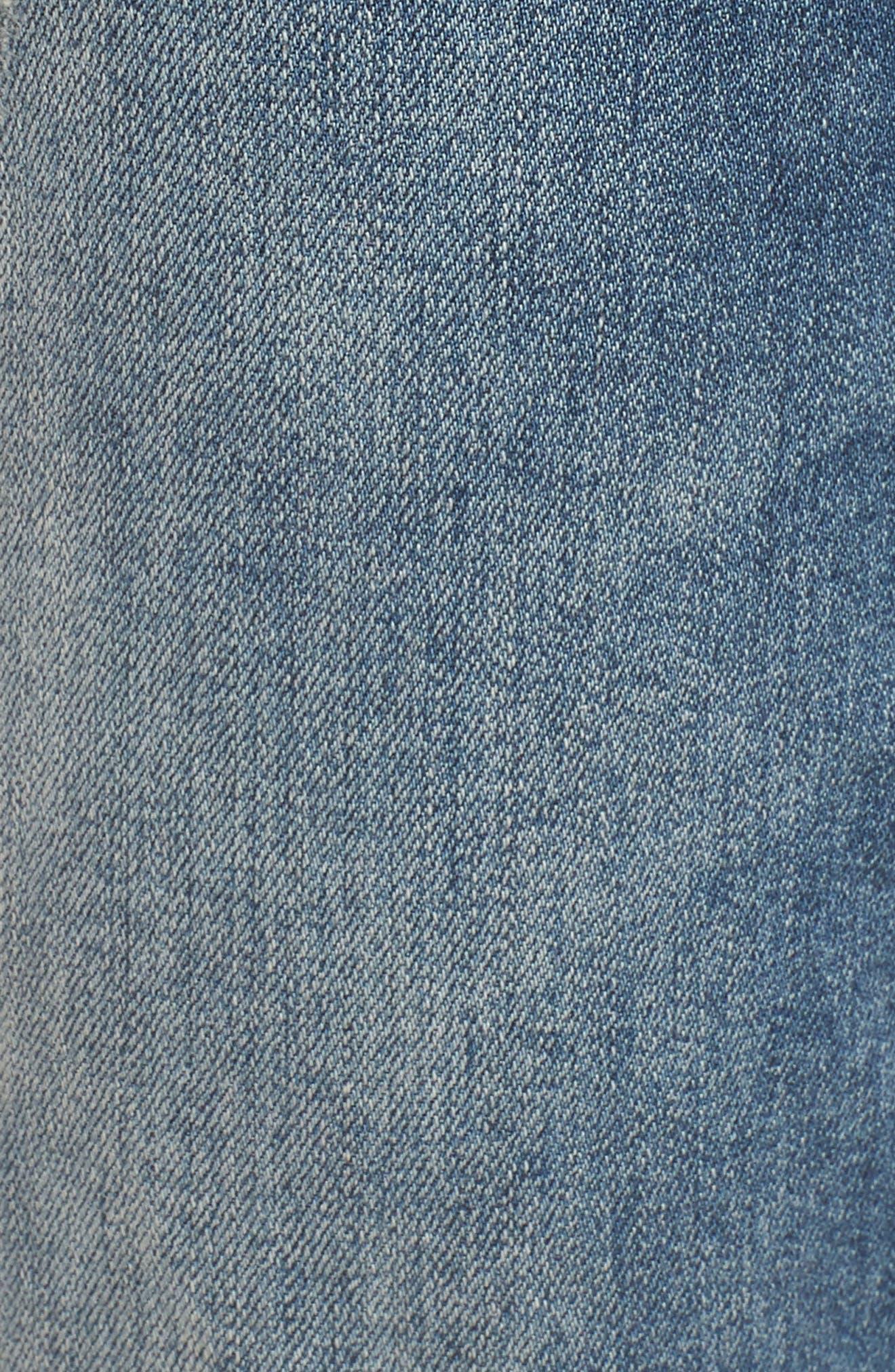 Distressed Skinny Jeans,                             Alternate thumbnail 6, color,                             LIGHT WASH