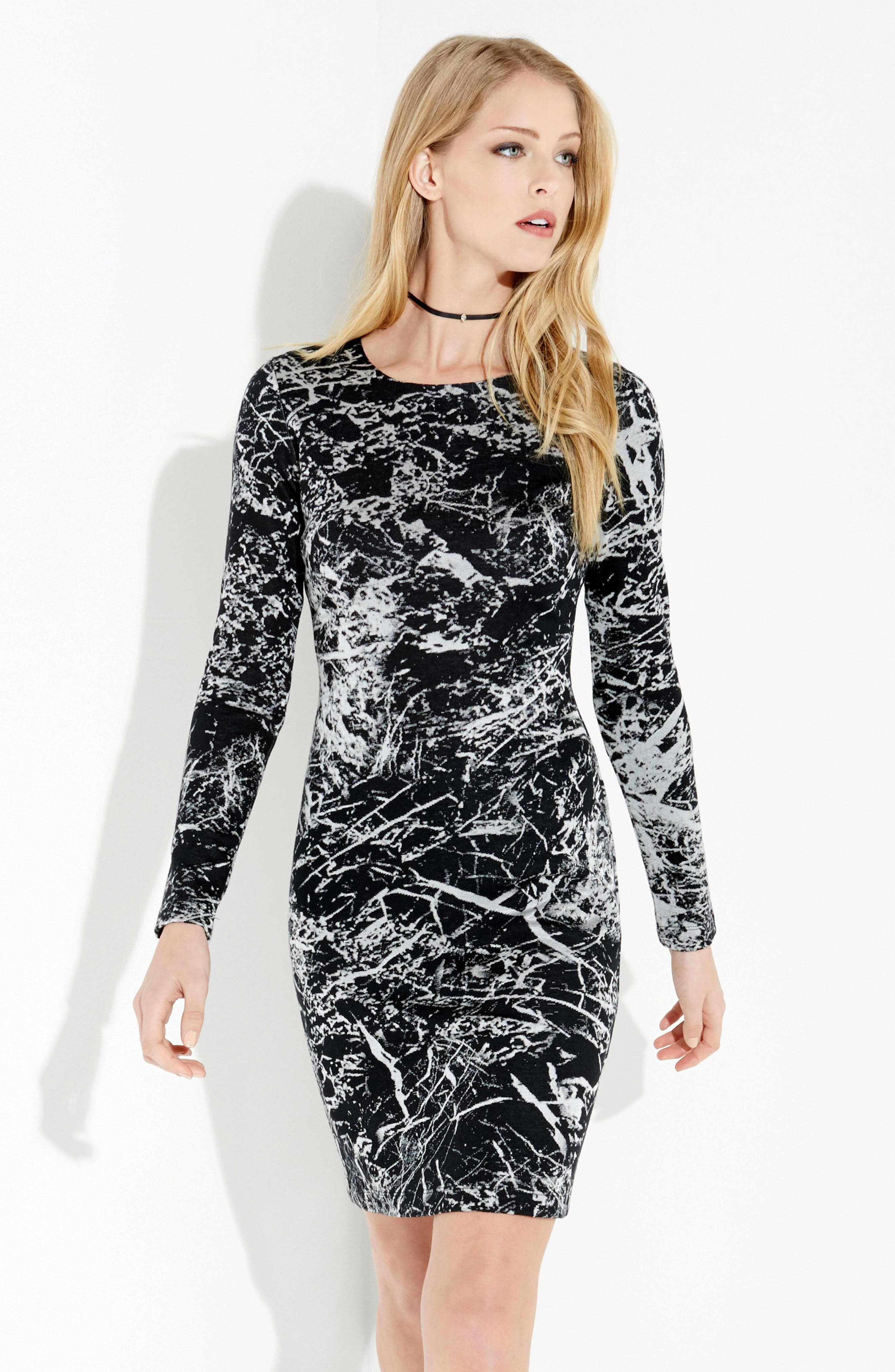 Granite Print Dress,                             Alternate thumbnail 5, color,