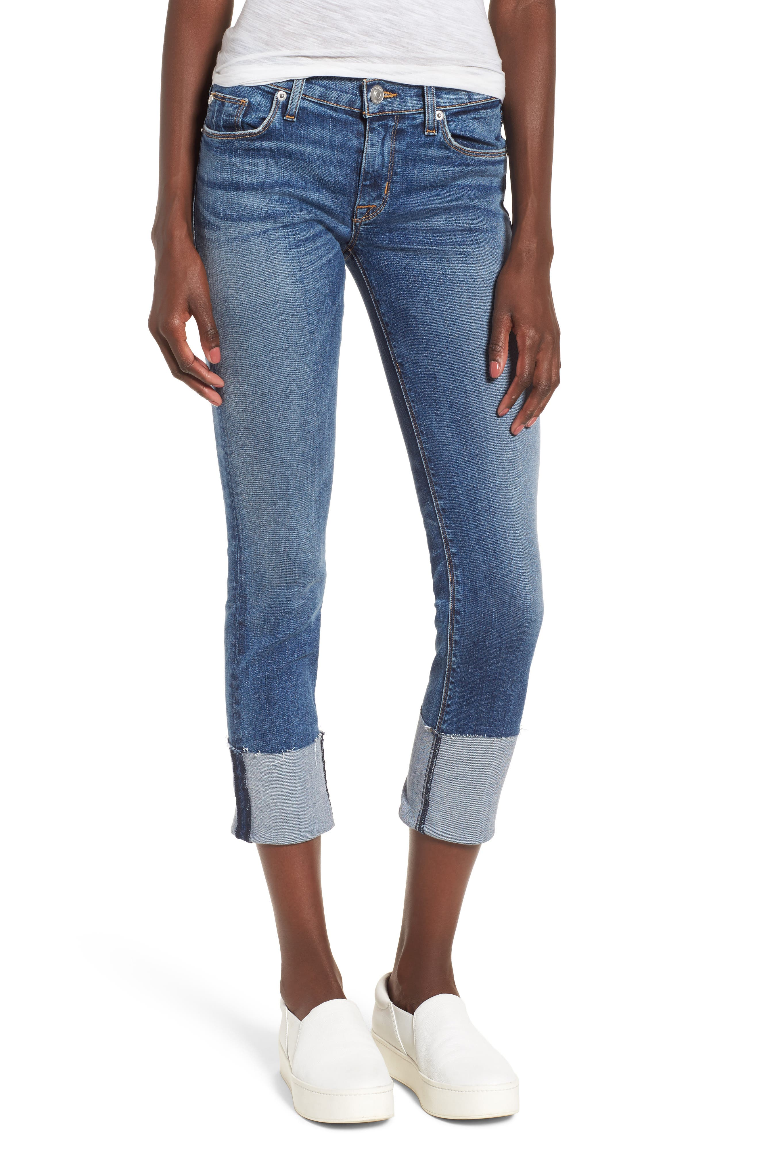 HUDSON JEANS Tally Cuffed Crop Skinny Jeans, Main, color, 426