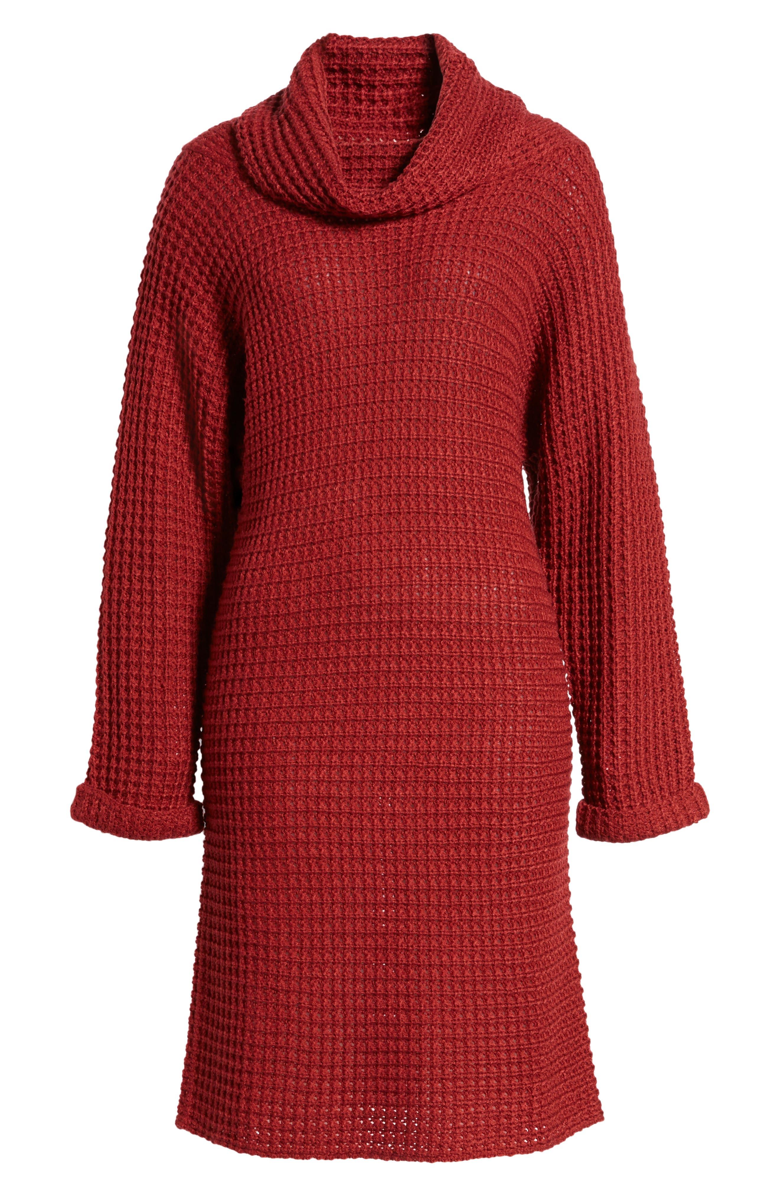 Turtleneck Sweater Dress,                             Alternate thumbnail 12, color,