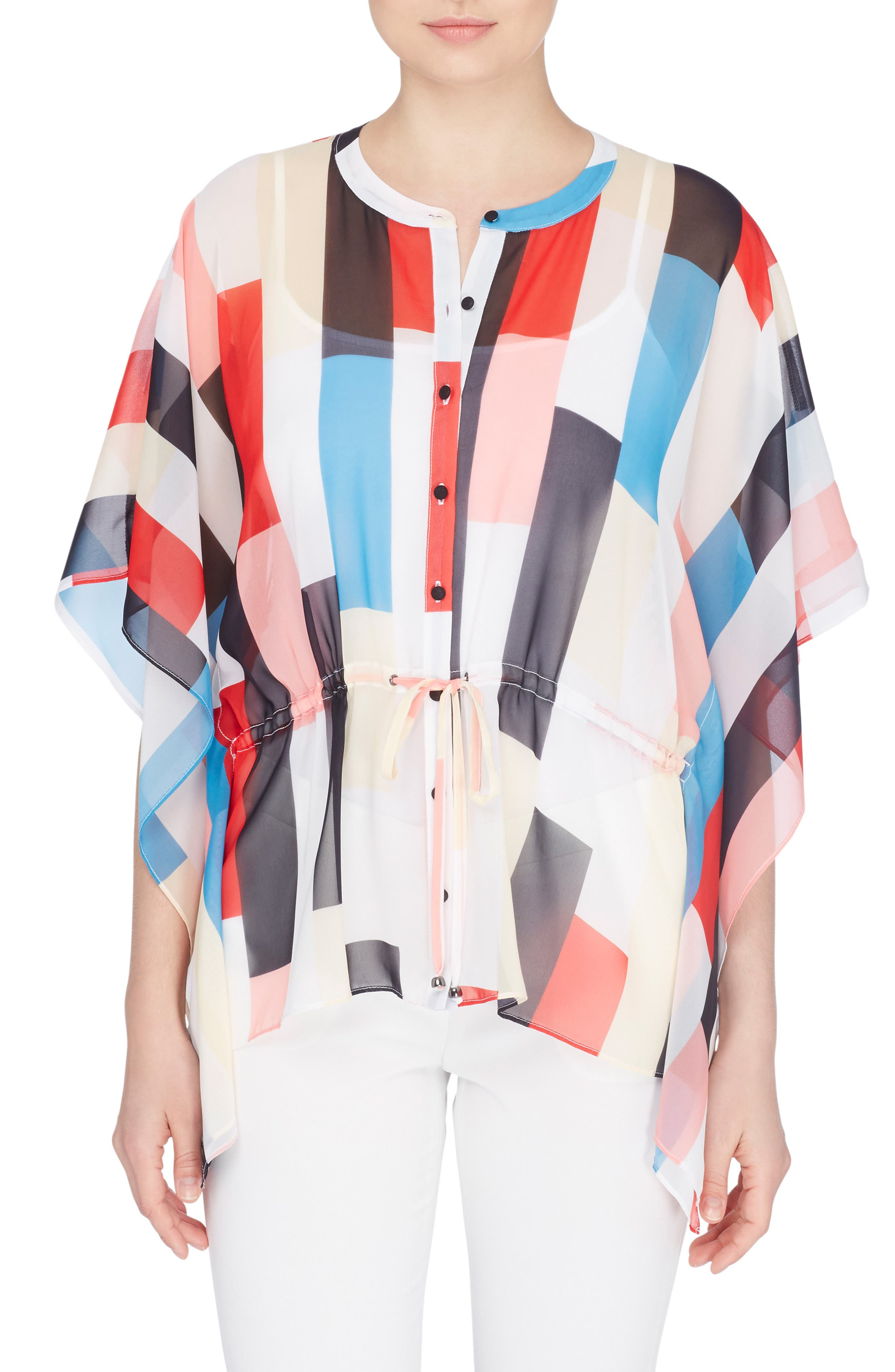 Komai Print Chiffon Blouse,                             Main thumbnail 1, color,                             100
