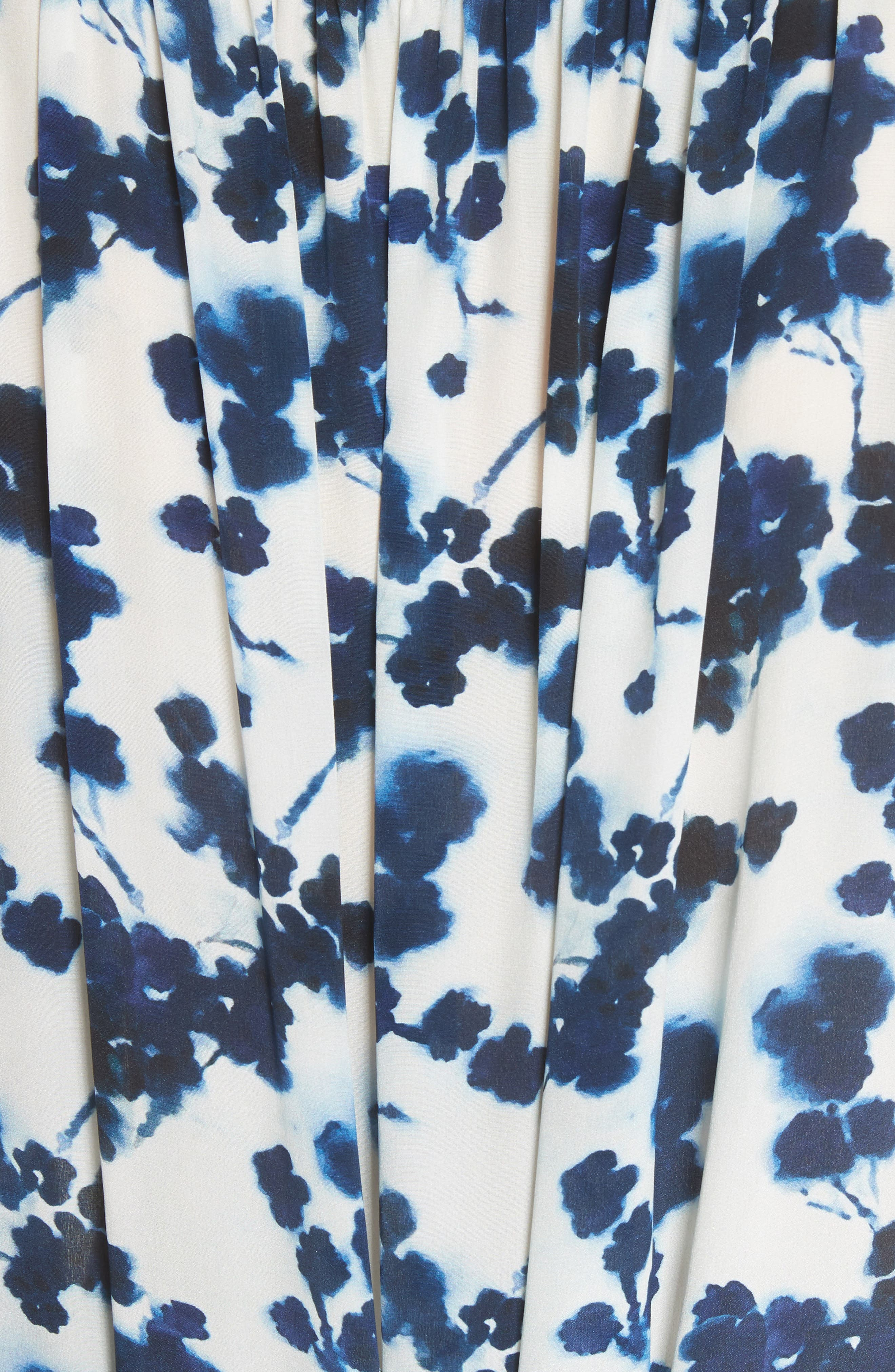 Lani P Floral Print Silk Dress,                             Alternate thumbnail 5, color,                             426