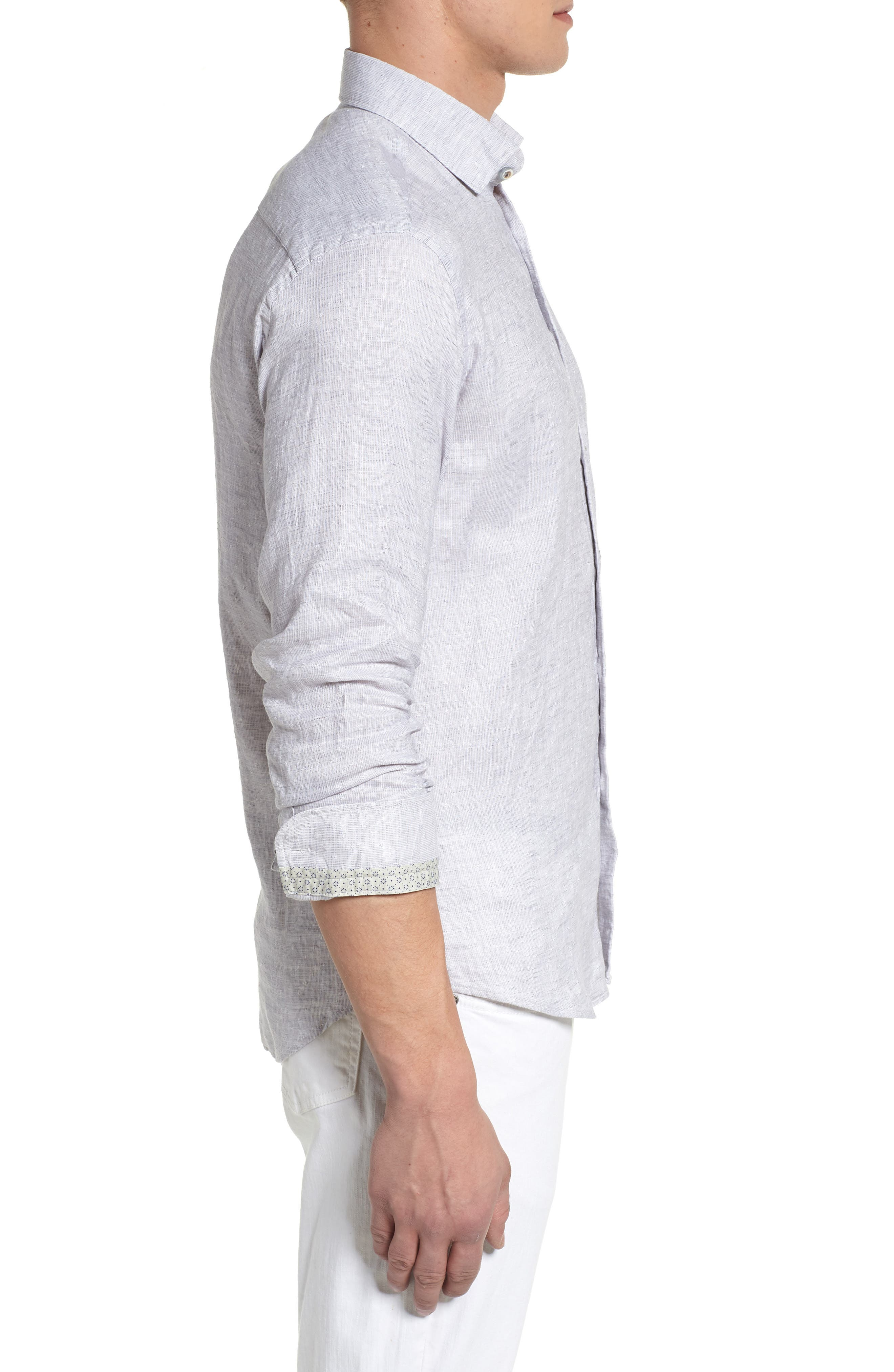Linen Blend Sport Shirt,                             Alternate thumbnail 7, color,