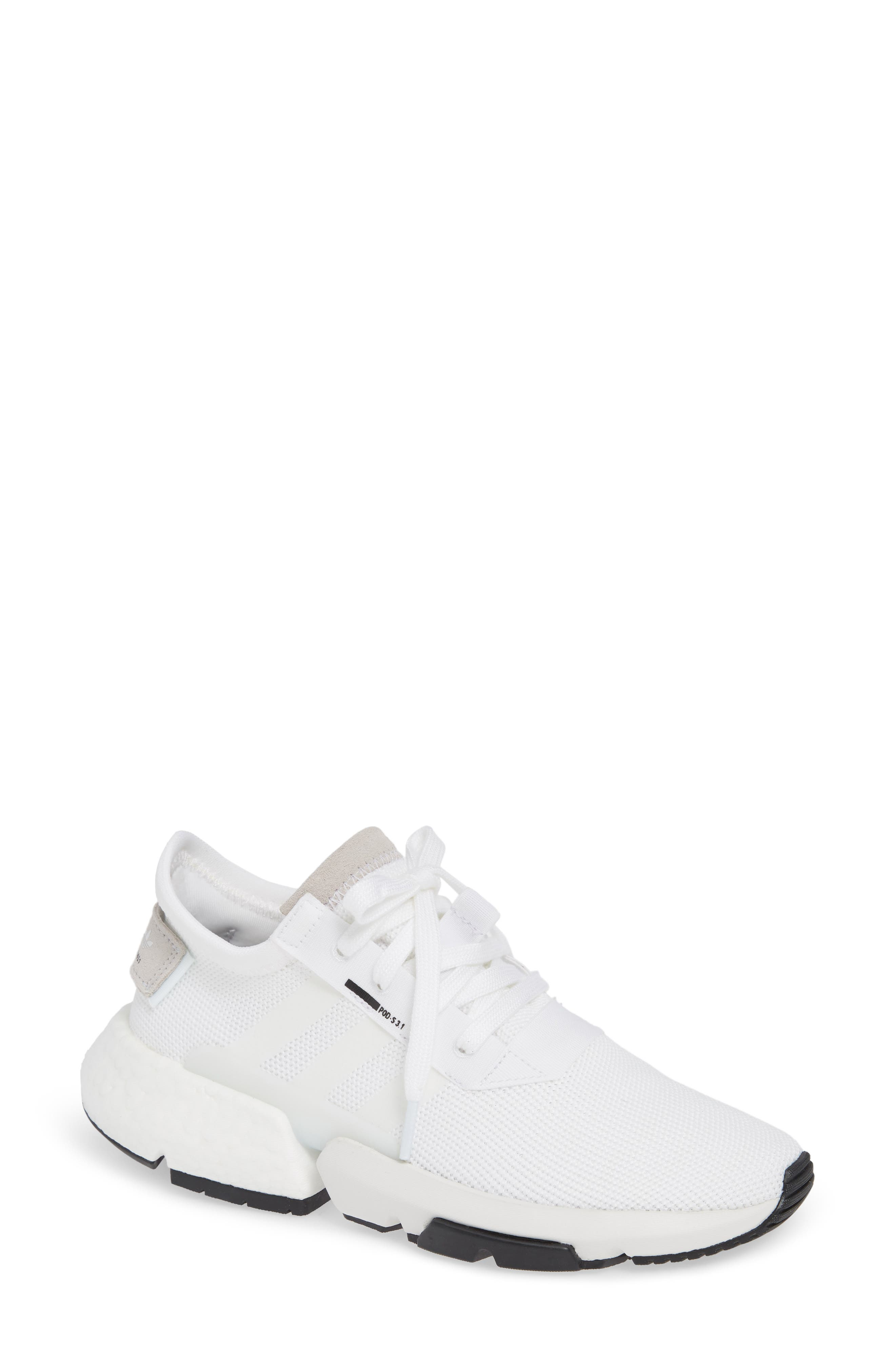 Pod S3.1 Sneaker,                             Main thumbnail 1, color,                             WHITE/ WHITE/ CORE BLACK